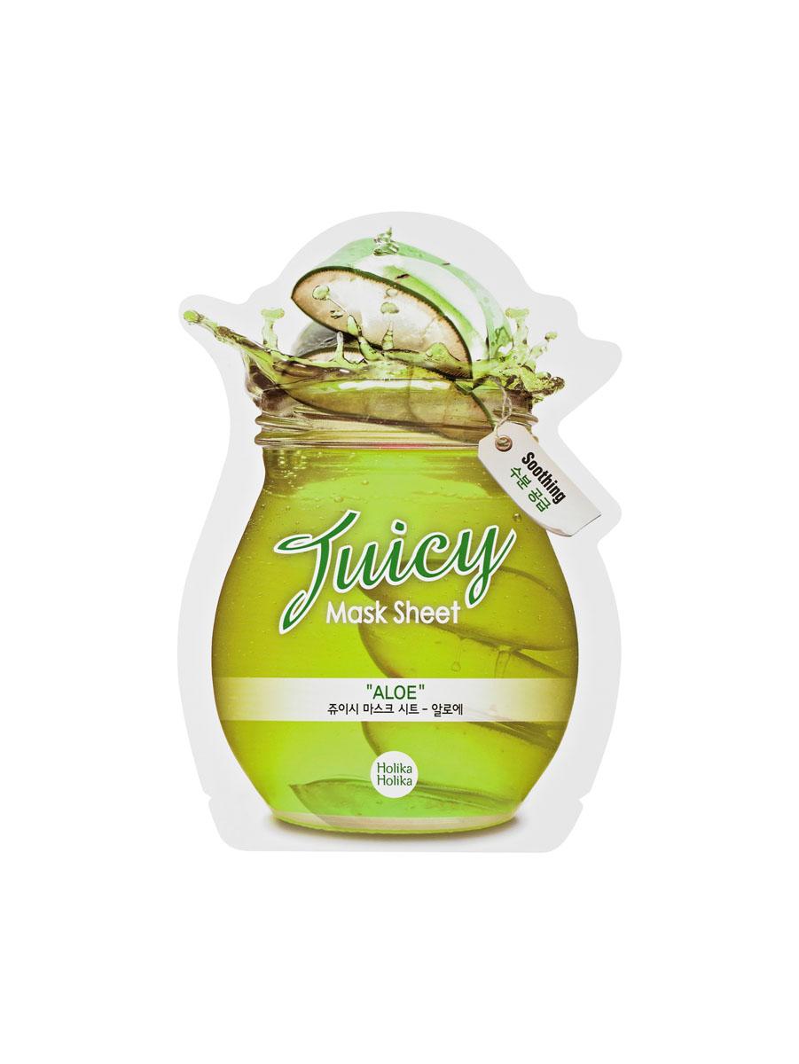 Holika Holika Тканевая маска для лица Juicy Mask Sheet, Aloe (алое), 20 млУТ000001355Содержит экстракт алоэ, который эффективно успокаивает, увлажняет и смягчает кожу