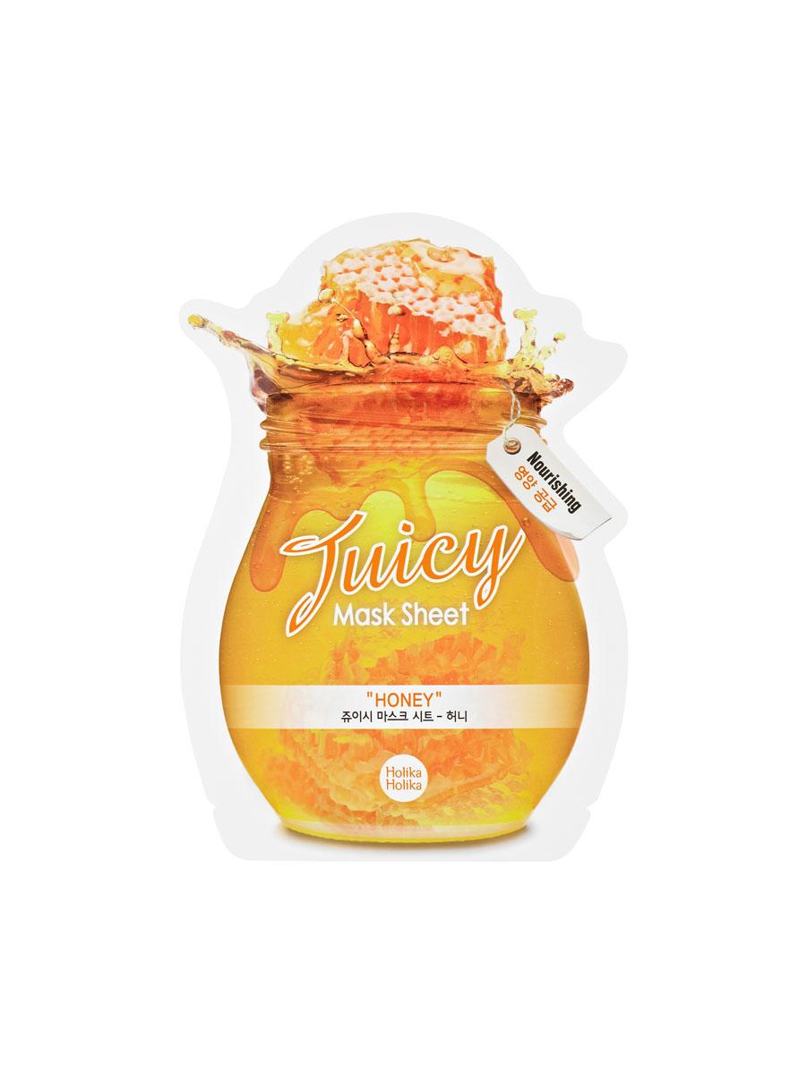 Holika Holika Тканевая маска для лица Juicy Mask Sheet Honey (мед), 20 млУТ000001123Экстракт мёда, который содержит маска, интенсивно питает кожу