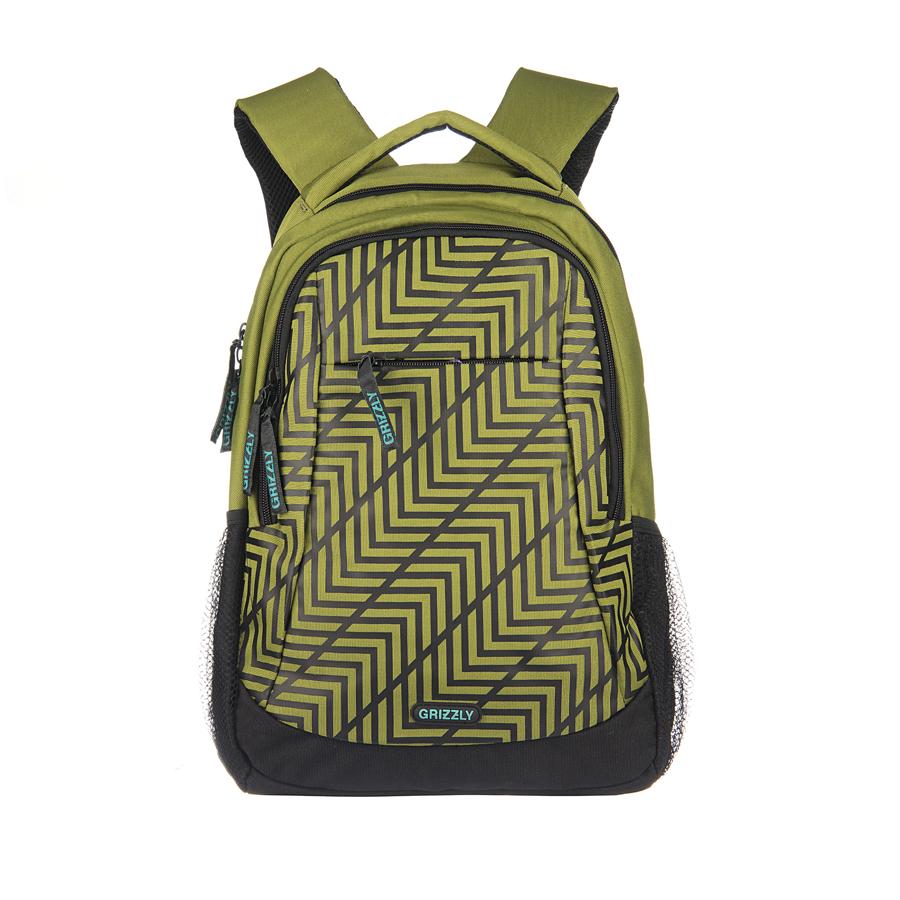 Рюкзак городской Grizzly, цвет: хаки, 24 л. RU-601-2/7RU-601-2/7Рюкзак молодежный с двумя отделениями, передним, внутренним и боковыми карманами, карманом-пеналом, укрепленными лямками и спиной, ручкой для переноски и ручкой-петлей.