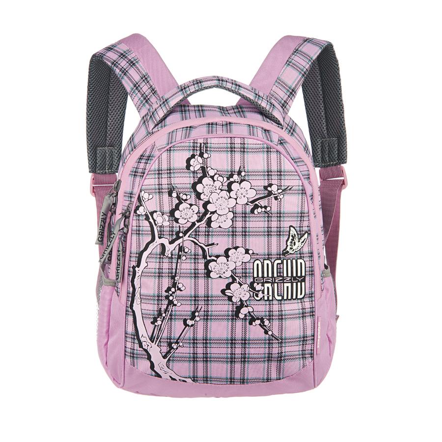 Рюкзак городской Grizzly, цвет: розовый, черный, зеленый, 20 л. RD-659-1/2RD-659-1/2Рюкзак Grizzly - это удобный и практичный рюкзак, изготовленный из полиэстера. Рюкзак имеет одно главное и одно дополнительное отделение, которые закрываются на застежку-молнию. Внутри основного отделения - карман на молнии, внутри дополнительного - четыре небольших кармашка для письменных принадлежностей. По бокам рюкзака - два сетчатых кармана на резинке. Модель имеет укрепленную спинку с мягкими рельефными вставками и анатомическими лямками, а также ручку для переноски. Такой рюкзак - практичное и стильное приобретение на каждый день.