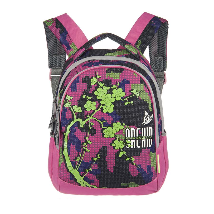 Рюкзак городской Grizzly, цвет: фуксия, синий, зеленый, 20 л. RD-659-1/3RD-659-1/3Рюкзак Grizzly - это удобный и практичный рюкзак с несколькими отделениями и карманами, изготовленный из полиэстера. Рюкзак имеет одно главное и одно дополнительное отделение, которые закрываются на застежку-молнию. Внутри основного отделения - карман на молнии, внутри дополнительного - четыре небольших кармашка для письменных принадлежностей. По бокам рюкзака - два сетчатых кармана на резинке. Модель имеет укрепленную спинку с мягкими рельефными вставками и анатомическими лямками, а также ручку для переноски. Такой рюкзак - практичное и стильное приобретение на каждый день.