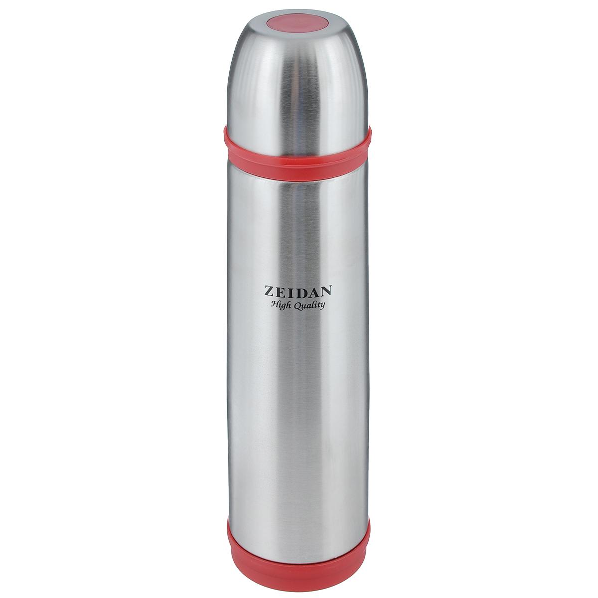 Термос Zeidan, цвет: красный, серебристый, 1 лZ-9038 КрасныйТермос с узким горлом Zeidan, изготовленный из высококачественной нержавеющей стали, является простым в использовании, экономичным и многофункциональным. Термос с двухстеночной вакуумной изоляцией, предназначенный для хранения горячих и холодных напитков (чая, кофе). Изделие укомплектовано пробкой с кнопкой. Такая пробка удобна в использовании и позволяет, не отвинчивая ее, наливать напитки после простого нажатия. Изделие также оснащено крышкой-чашкой. Легкий и прочный термос Zeidan сохранит ваши напитки горячими или холодными надолго. Высота (с учетом крышки): 33,5 см. Диаметр горлышка: 5 см.