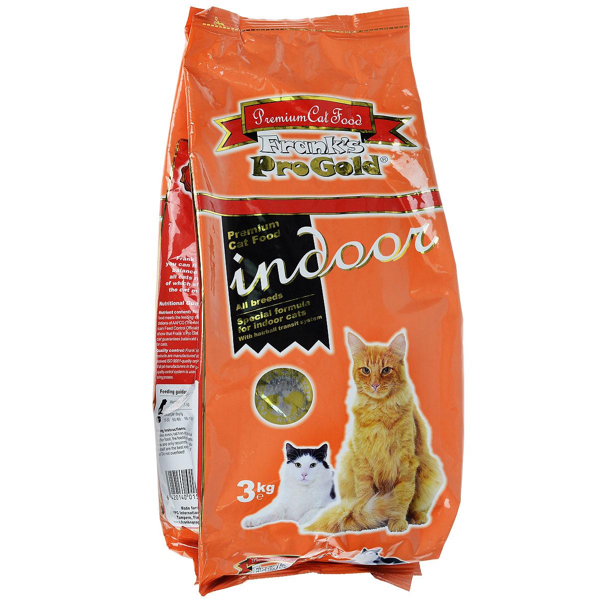 Корм сухой Franks ProGold для домашних и кастрированных кошек, 3 кг23299Сухой корм Franks ProGold - это полноценный рацион для взрослых домашних и кастрированных котов. Он содержит особую разработанную с участием ученых комбинацию ингредиентов для поддержания здоровья вашего питомца в течение продолжительного времени. Корм с высококачественным белком и низким содержанием жира, сочетающий все необходимые питательные вещества Состав: дегидрированное мясо курицы, рис, маис, ячмень, куриный жир, печень птицы, гидролизованный белок, пищевая целлюлоза (минимум 5%), мякоть свеклы, минералы, витамины, дрожжи, яичный порошок, кукурузная мука, рыбий жир, фруктоолигосахариды (минимум 5%), лецитан (минимум 0,5%), экстракт юкки, линхлорид, карбонат кальция, мясо птицы, хлорид натрия, таурин, витамин Е, витамин С. Пищевая ценность: белки 28,0%, жиры 14,0%, клетчатка 5,5%, зола 6,5%, влажность 8,0%, фосфор 1,0%, кальций 1,1%, натрий 0,6%, магний 0,09%. Добавки: витамин-A 22000 IU/кг, витамин-D3 2000 IU/кг, витамин-E 400 мг/кг, витамин-C 40 мг/кг,...