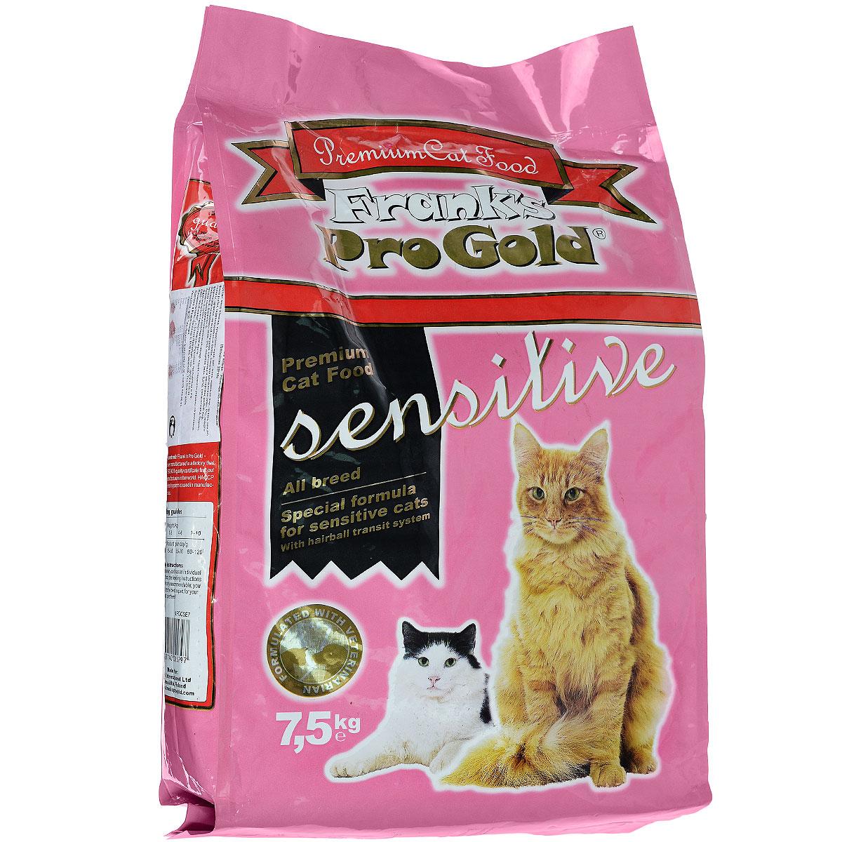Корм сухой Franks ProGold для чувствительных кошек, с ягненком по-голландски, 7,5 кг23297Сухой корм Franks ProGold - высококачественное сухое питание, специально приготовленное, чтобы поддержать здоровье привередливых кошек. Если кошка капризничает, отказывается от привычной еды, это может быть обусловлено тем, что она чувствительна к еде. Специально для особо притязательных разработан корм Franks ProGold - полноценное сбалансированное питание без добавления сои и пшеницы, которое оптимально подойдет кошкам с чувствительным пищеварением. Состав: мясо ягненка, кукурузная мука, рис, маис, куриный жир, печень птицы, филе рыбы, гидролизованный белок, пищевая целлюлоза (минимум 5%), мякоть свеклы, дрожжи, яичный порошок, витамины и минералы, рыбий жир, фруктоолигосахариды (минимум 5%), лецитин (минимум 0,5%), холинхлорид, таурин, витамин Е, витамин С. Пищевая ценность: белки 32,0%, жиры 18,0%, клетчатка 5%, зола 7%, влажность 8,0%, фосфор 1,15%, кальций 1,35%, натрий 0,45%, магний 0,08%. Пищевые добавки: витамин А (Е672) 22000МЕ/кг,...