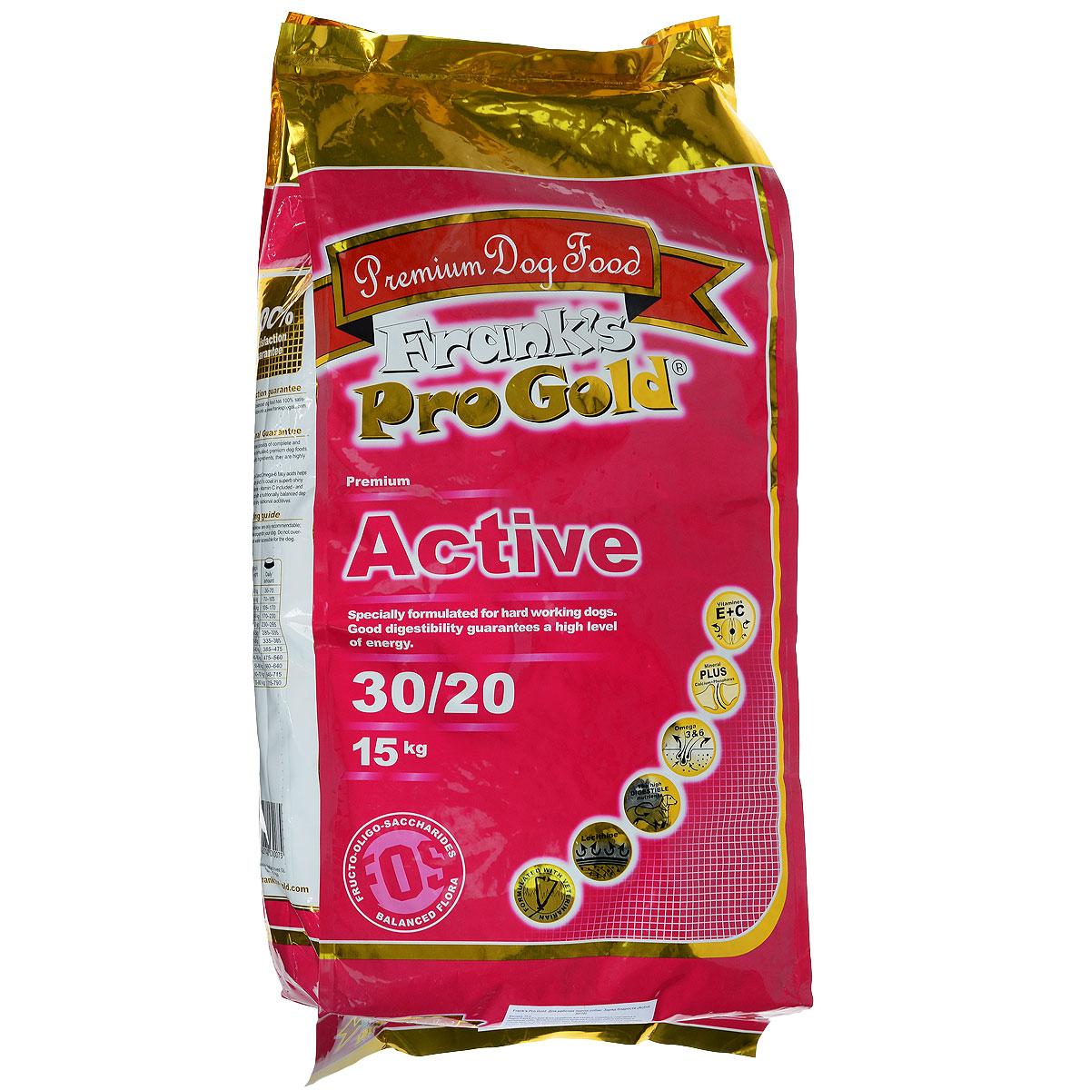 Корм сухой Franks ProGold Заряд бодрости для рабочих пород собак, 15 кг17916Сухой корм Franks ProGold Заряд бодрости разработан для ездовых, служебных, спортивных и охотничьих собак. Высокое содержание витамина Е помогает работе кишечника и способствует лучшему усваиванию пищи. Хорошая усвояемость и высокое содержание протеина позволяет не увеличивать нормы кормления при тяжелых тренировках, охоте и во время соревнований Не содержит пшеницы, соевых добавок, ГМО. Состав: дегидрированное мясо курицы, маис, рис, куриный жир, дегидрированная рыба, свекла, ячмень, кэроб, льняное семя, гидролизованная куриная печень, яичный порошок, дрожжи, минералы и витамины, L-карнитин, лецитин (0,5 %), инулин (0,5 % FOS), гидролизованные хрящи (источник хондроитина), гидролизованные рачки (источник глюкозамина), таурин. Пищевая ценность: белки 30,0%, жиры 20,0%, клетчатка 2,5%, зола 6,5%, влажность 10,0%, фосфор 1,0%, кальций 1,8%. Пищевые добавки: витамин-A (E672) 20000 IU/кг, витамин-D3 (E671) 2000 IU/кг, витамин-E (альфа токоферола ацетат) 200...