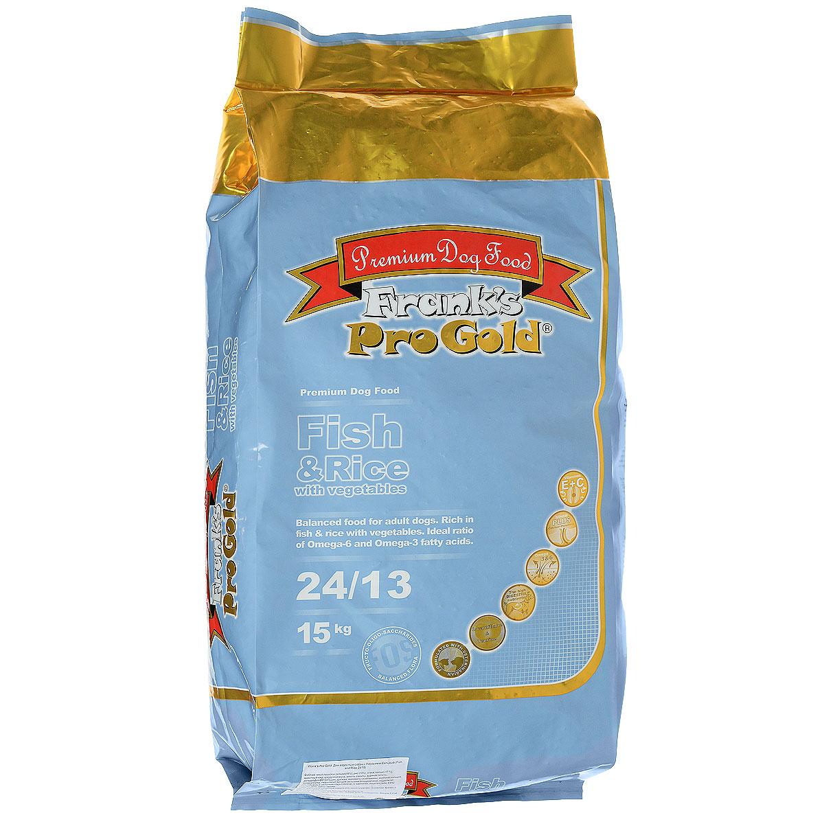 Корм сухой Franks ProGold для взрослых собак, с лососем и сельдью, 15 кг17914Корм сухой Franks ProGold содержит легкоусваиваемое мясо рыбы высшего качества (сельдь и лосось), а также рис и овощи, что идеально подходит для собак с чувствительным пищеварением, страдающих аллергией или проблемной кожей. Сочетание рыбы и овощей, а также жирных кислот Омега 6 и Омега 3 оказывает благоприятное влияние на шерсть и кожу вашей собаки. Корм содержит L-карнитин и таурин, что позволит поддерживать форму, развивать мускулатуру и работу сердца. Инулин принадлежит к группе добавок называемой фруктоолигосахаридами, которые улучшают работу кишечника, поддерживая количество нужных бактерий. Источник хлоротодина и аминоглюкозы укрепляет кости, суставы и хрящи. Не содержит пшеницы, соевых добавок, ГМО. Состав: мясо лосося и сельди (18%), рис (18%), маис и овощи (17%), животные жиры, кукурузная мука, свекла, куриная печень, дигидрофосфат кальция, дрожжи, минералы и витамины, карбонат кальция, холинхлорид, гидролизат хрящей (источник хондроитина), гидролизат...
