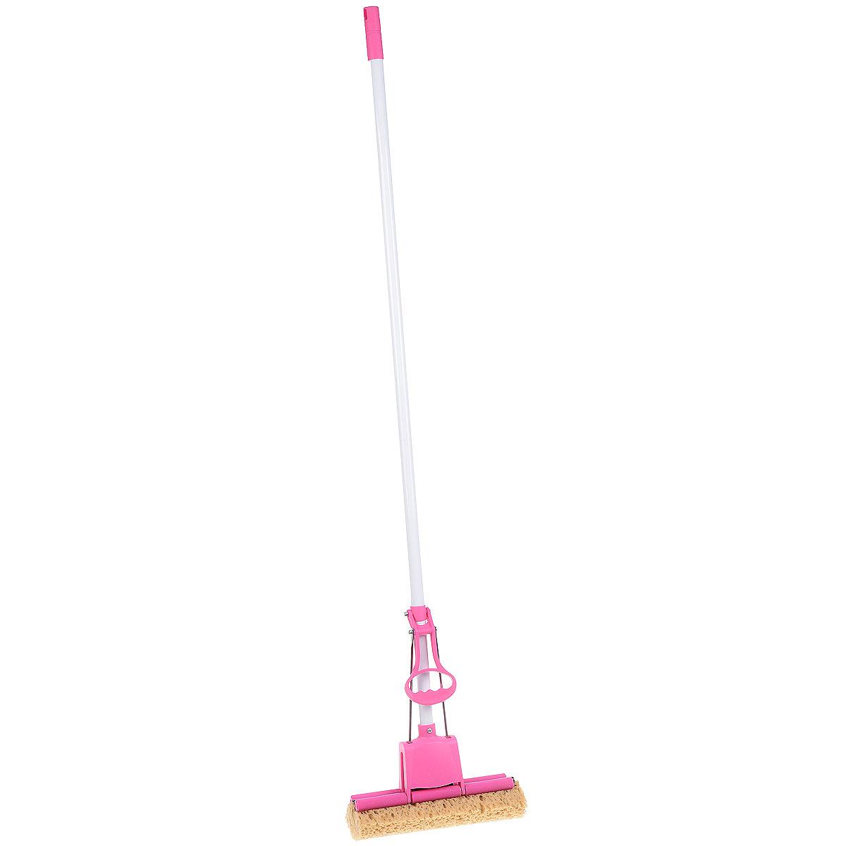 Швабра Home Queen Чудо-спонж с отжимом, цвет: белый, розовый60309_розовыйШвабра Home Queen Чудо-спонж, выполненная из металла, пенополиуретана и пластика, подходит для всех видов напольных покрытий. Швабра, имеющая отжимной механизм с одним роликом, хорошо впитывает большое количество влаги и легко устраняет загрязнения в труднодоступных местах благодаря угловой форме насадки. Швабра Home Queen Чудо-спонж проста в использовании, легко отжимает воду при помощи поднятия отжимного механизма, сохраняя ваши руки сухими и чистыми. Длина ручки швабры: 112 см. Размер губки: 27 см х 9 см х 6 см.