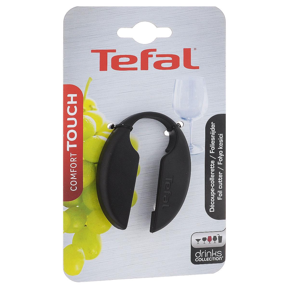 Прибор для снятия фольги Tefal Comfort Touch, цвет: черный2100074797Прибор для снятия фольги Tefal Comfort Touch изготовлен из пластика и металла. Четыре круглых крутящихся лезвия помогут вам моментально разрезать и снять фольгу с бутылки без лишних усилий. Размер: 7 см х 5 см. Диаметр лезвия: 1 см.