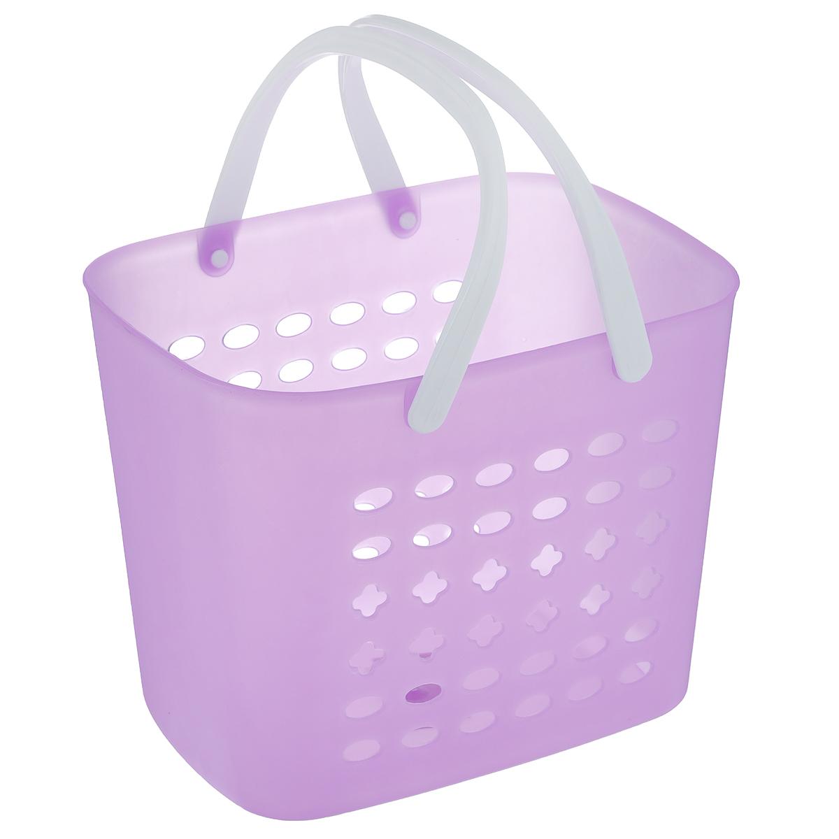 Корзина для хранения Sima-land, цвет: сиреневый, 23 х 17 х 18 см799929_сиреневыйПрямоугольная корзина Sima-land, изготовленная из пластика, предназначена для хранения мелочей в ванной, на кухне, даче или гараже. Корзина со сплошным дном, оснащена перфорированными стенками. Для удобства переноски корзины имеются пластиковые ручки. Элегантный выдержанный дизайн позволяет органично вписаться в ваш интерьер и стать его элементом.