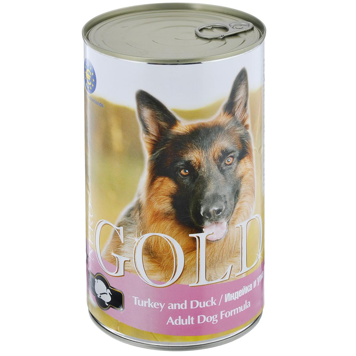 Консервы для собак Nero Gold, с индейкой и уткой, 1250 г10319Консервы для собак Nero Gold - полнорационный продукт, содержащий все необходимые витамины и минералы, сбалансированный для поддержания оптимального здоровья вашего питомца! Состав: мясо и его производные, филе курицы, филе индейки, филе утки, злаки, витамины и минералы. Гарантированный анализ: белки 6,5%, жиры 4,5%, клетчатка 0,5%, зола 2%, влага 81%. Пищевые добавки на 1 кг продукта: витамин А 1600 МЕ, витамин D 140 МЕ, витамин Е 10 МЕ, железо 24 мг, марганец 6 мг, цинк 15 мг, медь 1 мг, магний 200 мг, йод 0,3 мг, селен 0,2 мг. Вес: 1250 г. Товар сертифицирован.