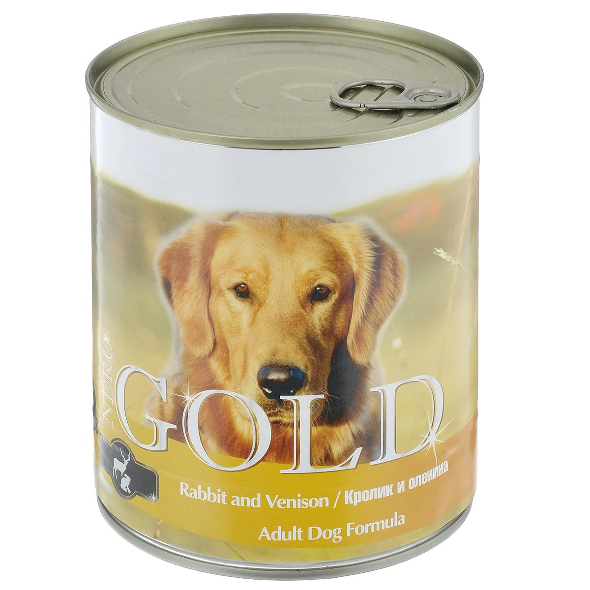 Консервы для собак Nero Gold, с кроликом и олениной, 810 г10321Консервы для собак Nero Gold - полнорационный продукт, содержащий все необходимые витамины и минералы, сбалансированный для поддержания оптимального здоровья вашего питомца! Состав: мясо и его производные, филе курицы, филе кролика, оленина, злаки, витамины и минералы. Гарантированный анализ: белки 6,5%, жиры 4,5%, клетчатка 0,5%, зола 2%, влага 81%. Пищевые добавки на 1 кг продукта: витамин А 1600 МЕ, витамин D 140 МЕ, витамин Е 10 МЕ, железо 24 мг, марганец 6 мг, цинк 15 мг, медь 1 мг, магний 200 мг, йод 0,3 мг, селен 0,2 мг. Вес: 810 г. Товар сертифицирован.