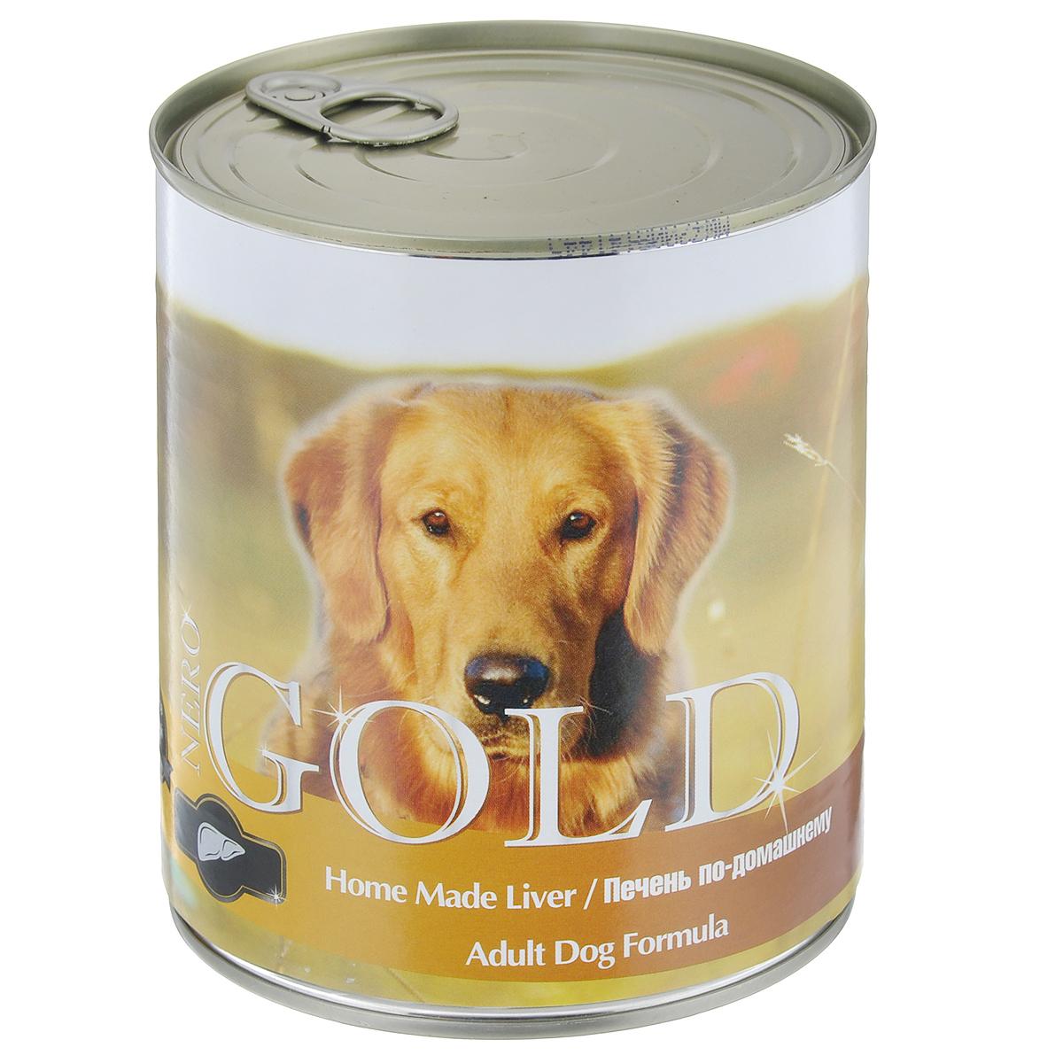 Консервы для собак Nero Gold, с печенью по-домашнему, 810 г10277Консервы для собак Nero Gold - полнорационный продукт, содержащий все необходимые витамины и минералы, сбалансированный для поддержания оптимального здоровья вашего питомца! Состав: мясо и его производные, филе курицы, печень, злаки, витамины и минералы. Гарантированный анализ: белки 6,5%, жиры 4,5%, клетчатка 0,5%, зола 2%, влага 81%. Пищевые добавки на 1 кг продукта: витамин А 1600 МЕ, витамин D 140 МЕ, витамин Е 10 МЕ, железо 24 мг, марганец 6 мг, цинк 15 мг, медь 1 мг, магний 200 мг, йод 0,3 мг, селен 0,2 мг. Вес: 810 г. Товар сертифицирован.
