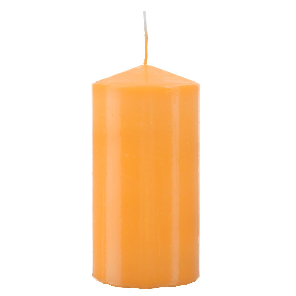 Свеча Sima-land Аромат огня, цвет: оранжевый, высота 15 см. 843215843215Свеча Sima-land Аромат огня выполнена из парафина в классическом стиле. Изделие порадует вас ярким дизайном. Такую свечу можно поставить в любое место и она станет ярким украшением интерьера. Свеча Sima-land Аромат огня создаст незабываемую атмосферу, будь то торжество, романтический вечер или будничный день.
