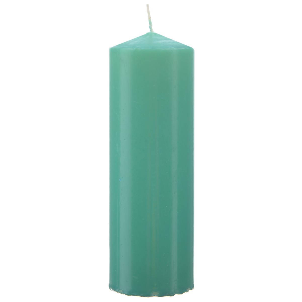 Свеча Sima-land Аромат огня, цвет: зеленый, высота 15 см197619Свеча Sima-land Аромат огня выполнена из парафина в классическом стиле. Изделие порадует вас ярким дизайном. Такую свечу можно поставить в любое место и она станет ярким украшением интерьера. Свеча Sima-land Аромат огня создаст незабываемую атмосферу, будь то торжество, романтический вечер или будничный день.