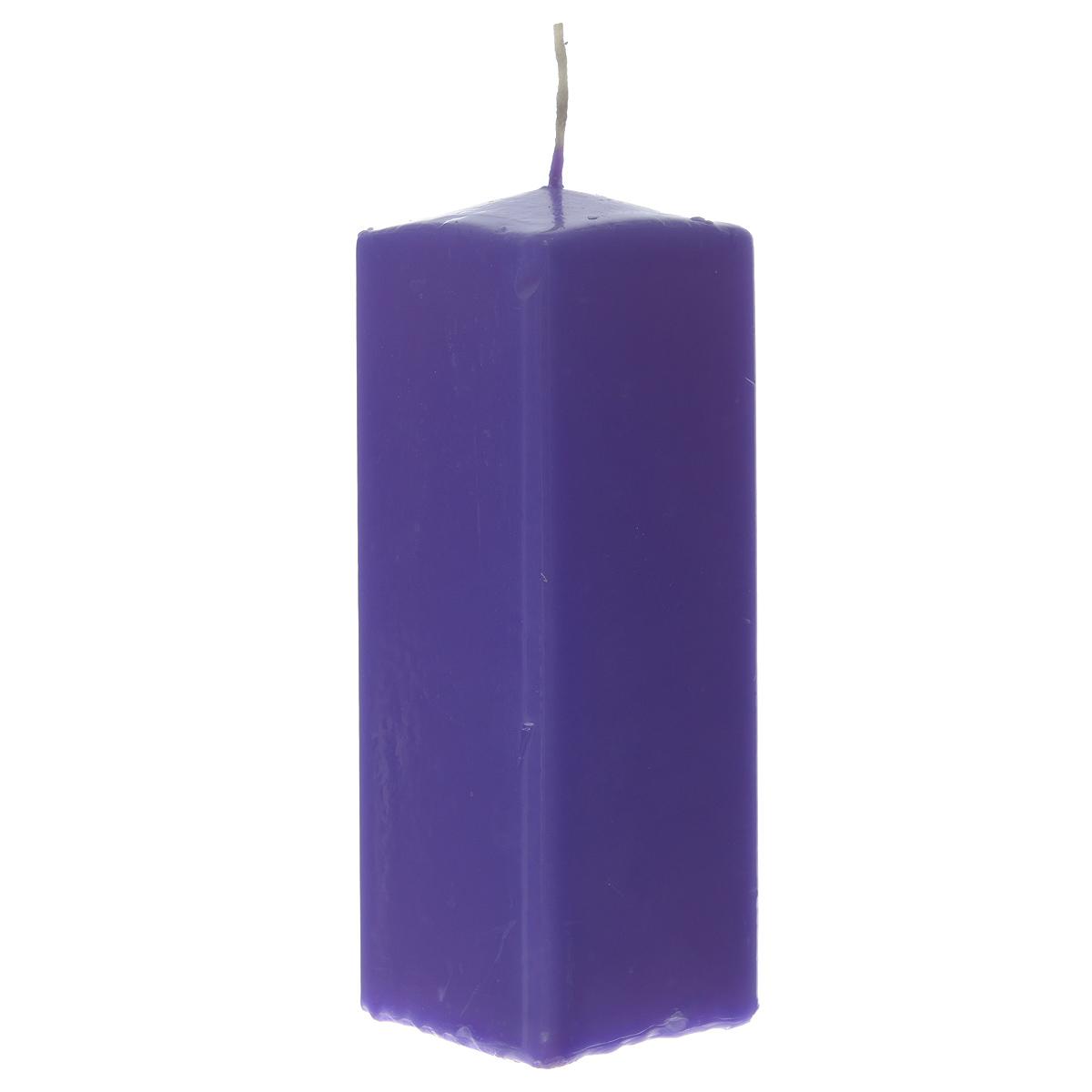 Свеча Sima-land Аромат огня, цвет: фиолетовый, высота 15 см. 843211843211Свеча Sima-land Аромат огня выполнена из парафина в классическом стиле. Изделие порадует вас ярким дизайном. Такую свечу можно поставить в любое место и она станет ярким украшением интерьера. Свеча Sima-land Аромат огня создаст незабываемую атмосферу, будь то торжество, романтический вечер или будничный день.