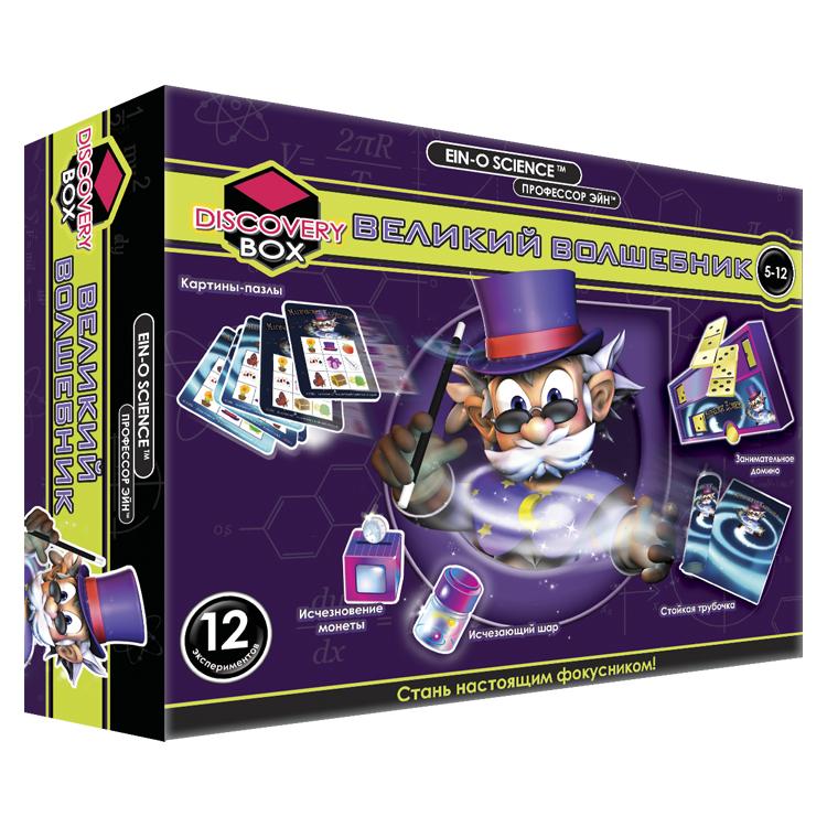 Профессор Эйн: Великий волшебникE2048NЭксперименты этого набора увлекут детей в мир волшебства и превращений! Ребёнок узнает секреты фокусов, сможет изменить цвет стаканчика, заставит исчезнуть шарик, будет притягивать предметы «волшебной палочкой» или угадывать спрятанные рисунки. Помимо развлекательной, этот набор выполняет и познавательную функцию.