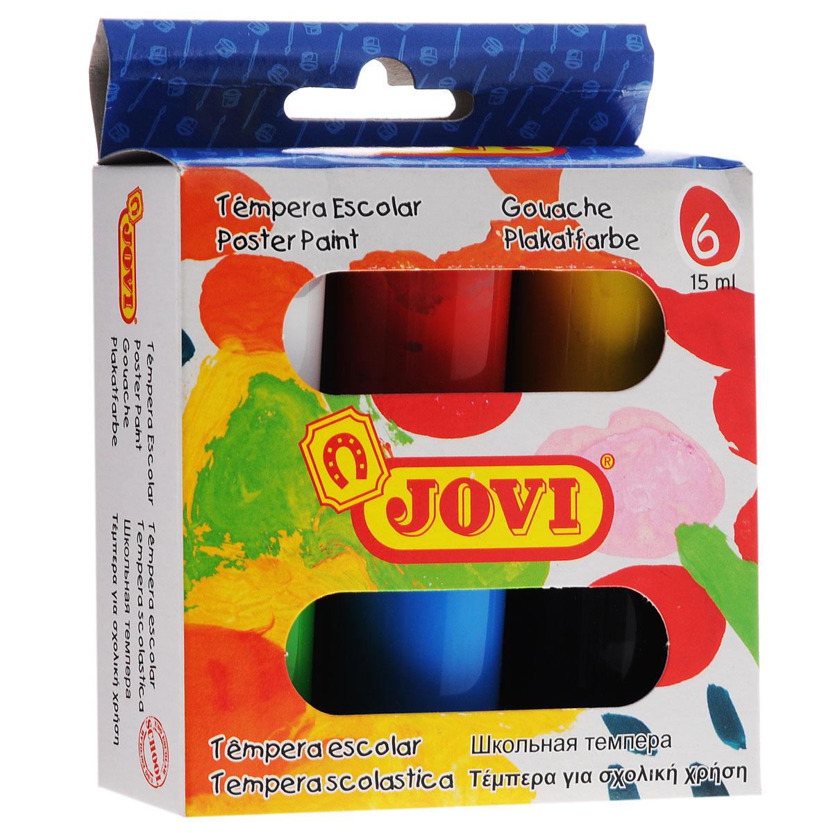 Гуашь Jovi, 6 цветов520Гуашь Jovi отлично подходит для детского творчества и оформления художественно-декоративных работ. Набор состоит из 6 насыщенных цветов (белый, красный, желтый, зеленый, синий, черный). Каждый цвет упакован в прозрачную пластиковую баночку с крышкой. Гуашевые краски на водной основе медленно расходуются и быстро высыхают, легко наносятся и имеют большую покрывающую способность. Готовы к использованию без разбавления водой. Для получения новых оттенков, краски можно смешивать. Работа с гуашью будет способствовать развитию творческой личности ребенка, а также развитию цветового восприятия. Не рекомендуется детям до 3-х лет.