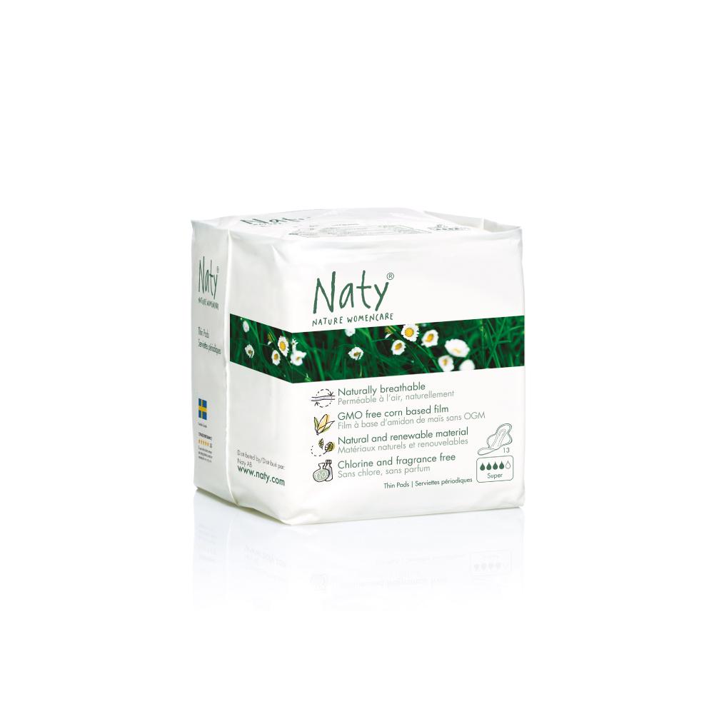 Прокладки Naty (Найти), гигиенические, Super, 13 шт.7330933080200О бренде: Компания Naty основана в Швеции матерью двух мальчиков Марлен Сандберг. В результате для малышей и их мам была создана новая, экологически чистая продукция из натурального воспроизводимого сырья, отвечающая высоким запросам потребителей по качеству, эффективности и дизайну. Компания представляет широкий ассортимент товаров личной гигиены из натуральных материалов для детей и женщин, а также детский текстиль. Вся продукция шведской компании Naty изготовлена из натуральных органических материалов, не содержит никаких вредных химических компонентов. Материалы, которые используются для производства, проходят все необходимые тесты на аллергические реакции. Продукция Naty - это выбор ответственных родителей, заботящихся о здоровье своих детей и окружающей природе. Описание: В состав прокладок и ежедневок входят исключительно природные возобновляемые материалы, без содержания хлора и ароматизаторов, с использованием плёнки на основе кукурузного крахмала, без...