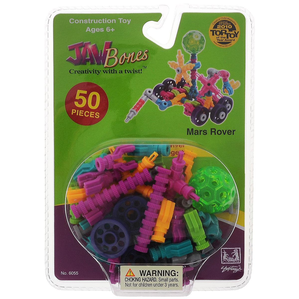 Jawbones Конструктор Марсоход6055Новый развивающий конструктор Jawbones непременно понравится вашему ребенку! При помощи красочных деталей, с уникальным креплением, можно собрать марсоход в оригинальном и неповторимом стиле. Конструктор состоит из 50 элементов разного размера, цвета и назначения. Ваш ребенок с удовольствием будет играть с конструктором, придумывая различные истории.