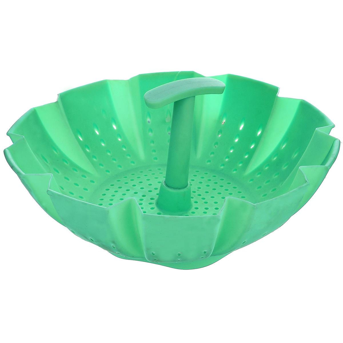 Пароварка Mayer & Boch, цвет: зеленый, 900 мл21984Пароварка Mayer & Boch выполнена из высококачественного силикона и предназначена для готовки на пару и разогрева. Изделие можно безбоязненно помещать в морозильную камеру, холодильник, микроволновую печь, посудомоечную машину и духовой шкаф. Благодаря материалу пароварка не ржавеет, на ней не образуются пятна. Диаметр по верхнему краю: 22 см. Высота: 10 см.