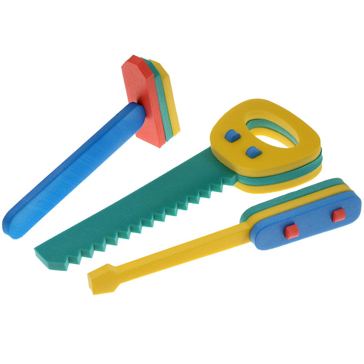Флексика Конструктор Набор инструментов45380Мозаики и конструкторы настолько универсальны и практичны, что с ними можно играть практически везде. Для производства игрушек используется современный, легкий, эластичный, прочный материал, который обеспечивает большую долговечность игрушек, и главное –является абсолютно безопасным для детей. К тому же, благодаря особой структуре материала и свойству прилипать к мокрой поверхности, мягкие конструкторы и мозаики являются идеальной игрушкой для ванны. Способствует развитию у ребенка мелкой моторики, образного и логического мышления, наблюдательности. Конструктор выполнен из мягкого, прочного, нетоксичного, абсолютно безопасного материала. Производственная фирма Тедико зарекомендовала себя на рынке отечественных товаров как производитель высококачественных конструкторов и мозаик серии Флексика. Богатый ассортимент включает в себя игрушки для малышей и детей старшего возраста.