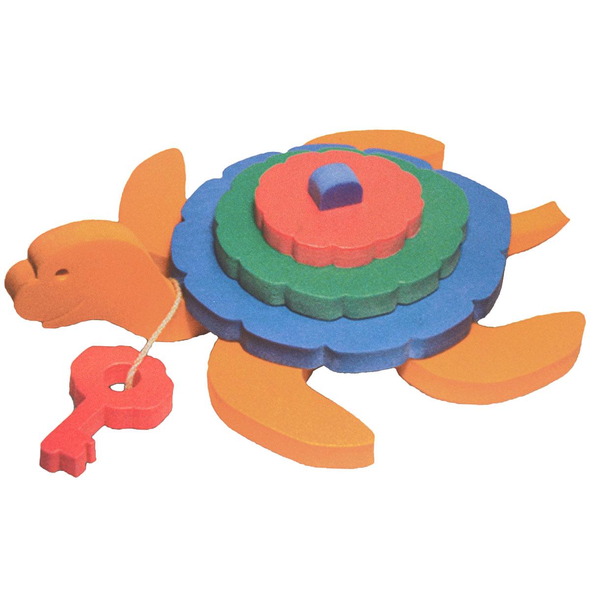 Флексика Мягкий конструктор Черепаха45363Мозаики и конструкторы настолько универсальны и практичны, что с ними можно играть практически везде. Для производства игрушек используется современный, легкий, эластичный, прочный материал, который обеспечивает большую долговечность игрушек, и главное –является абсолютно безопасным для детей. К тому же, благодаря особой структуре материала и свойству прилипать к мокрой поверхности, мягкие конструкторы и мозаики являются идеальной игрушкой для ванны. Способствует развитию у ребенка мелкой моторики, образного и логического мышления, наблюдательности. Производственная фирма `Тедико` зарекомендовала себя на рынке отечественных товаров как производитель высококачественных конструкторов и мозаик серии `Флексика`. Богатый ассортимент включает в себя игрушки для малышей и детей старшего возраста.