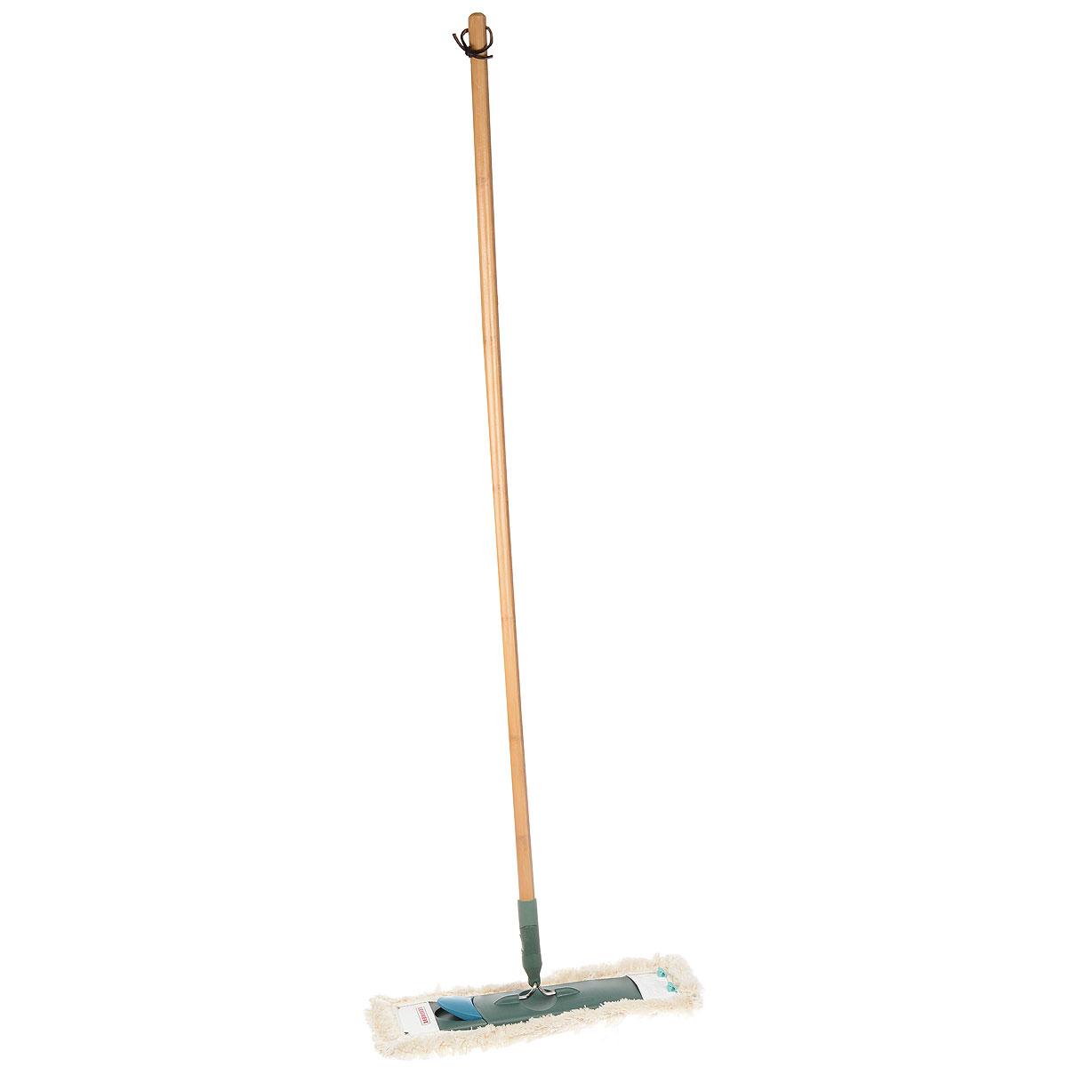 Claro EcoPerfect Швабра для пола55271Швабра с бамбуковой ручкой (135 см). Удобна и проста в эксплуатации. Не требует специального ведра для отжима. Имеет насадку с большим содержанием хлопка и высокой степенью впитывания воды и грязи. Ширина рабочей поверхности 42 см. Подходит сменная насадка Eco Perfect арт. 55272 и Profi.