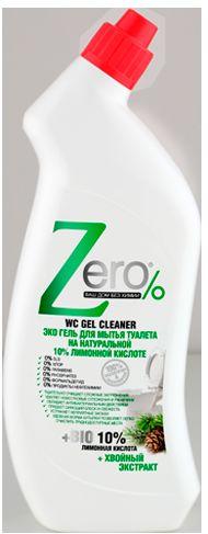 ZERO гель для мытья туалета лимон 750 мл071-41-4481ZERO гель для мытья туалета лимон 750 мл