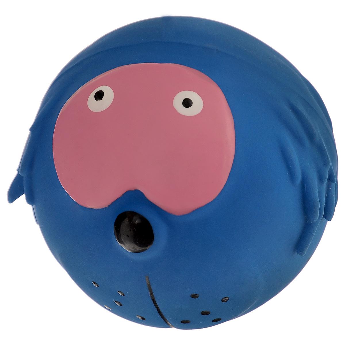 Игрушка для собак I.P.T.S. Мяч с мордочкой, цвет: синий, диаметр 7 см16291 синийИгрушка для собак I.P.T.S. Мяч с мордочкой, изготовленная из высококачественного латекса, выполнена в виде мячика с милой мордочкой. Такая игрушка порадует вашего любимца, а вам доставит массу приятных эмоций, ведь наблюдать за игрой всегда интересно и приятно. Оставшись в одиночестве, ваша собака будет увлеченно играть. Диаметр: 7 см.