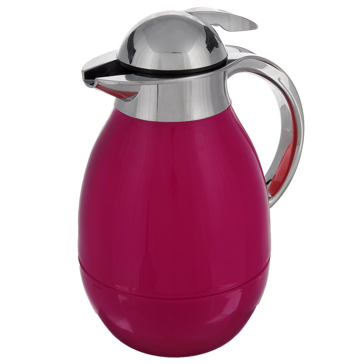 Tермос BergHOFF Cook&Co, цвет: красный, 1 л2801505Термос BergHOFF Cook&Co сохранит любимые напитки горячими в течение долгого времени. Корпус термоса выполнен из пластика, а колба - из стекла. Термос снабжен крышкой с дозатором, что позволяет выливать жидкость, не отвинчивая крышки. Корпус термоса оснащен удобным носиком, а с эргономичной ручкой вам будет удобно держать термос в руке. Высота: 25,5 см. Диаметр основания: 10 см.