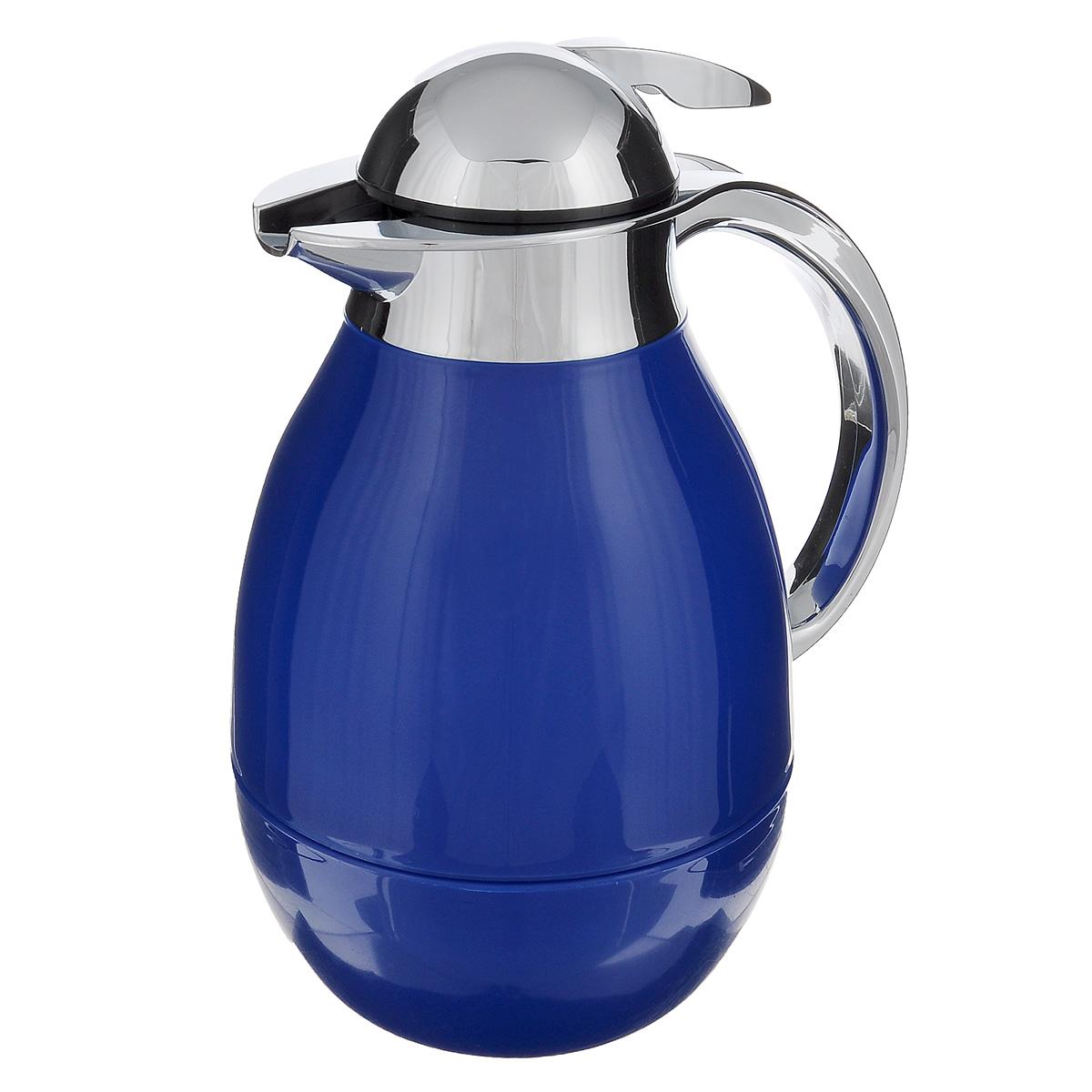 Tермос BergHOFF Cook&Co, цвет: голубой, 1 л2801512Термос BergHOFF Cook&Co сохранит любимые напитки горячими в течение долгого времени. Корпус термоса выполнен из пластика, а колба - из стекла. Термос снабжен крышкой с дозатором, что позволяет выливать жидкость, не отвинчивая крышки. Корпус термоса оснащен удобным носиком, а с эргономичной ручкой вам будет удобно держать термос в руке. Высота: 25,5 см. Диаметр основания: 10 см.