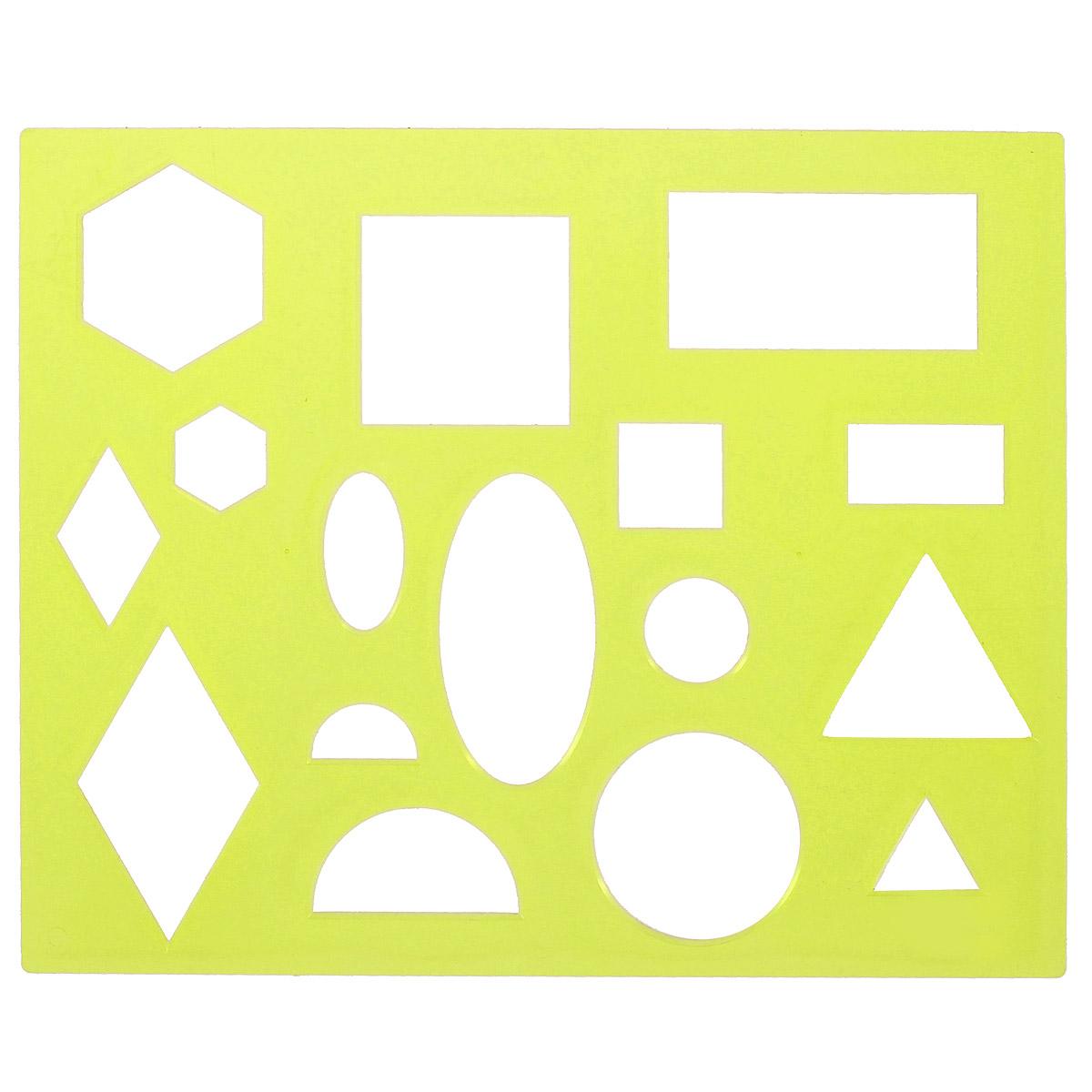 Трафарет Луч Геометрические фигуры № 1, цвет: желтый12С 836-08_ желтыйТрафарет Геометрические фигуры № 1, изготовленный из безопасного пластика, предназначен для удобного и быстрого изображения геометрических фигур и их комбинаций, а также для создания аппликаций. В трафарете вырезаны такие фигуры, как: круг, овал, полукруг, ромб, квадрат, прямоугольник и шестиугольник, которые встречаются дважды в разных размерах. Трафарет позволяет ребенку выучить названия и вид различных фигур, одновременно развивая мелкую моторику и навыки рисования, а также может применяться для оформительских работ.