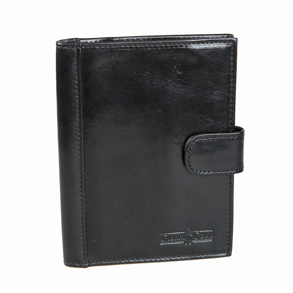 Обложка для паспорта мужская Gianni Conti, цвет: черный. 907035907035Стильная обложка для паспорта Gianni Conti выполнена из натуральной кожи глянцевой текстурой. Обложка оформлена декоративной строчкой и выбитым клеймом с изображением логотипа названия бренда. Изделие раскладывается пополам и закрывается на хлястик с кнопкой, внутри расположены шесть карманов для визитных или пластиковых карт, два накладных кармана для документов и карман-стенка для паспорта. Элегантная обложка Gianni Conti не только поможет сохранить внешний вид ваших документов и защитит их от повреждений, но и станет стильным аксессуаром, идеально подходящим вашему образу.
