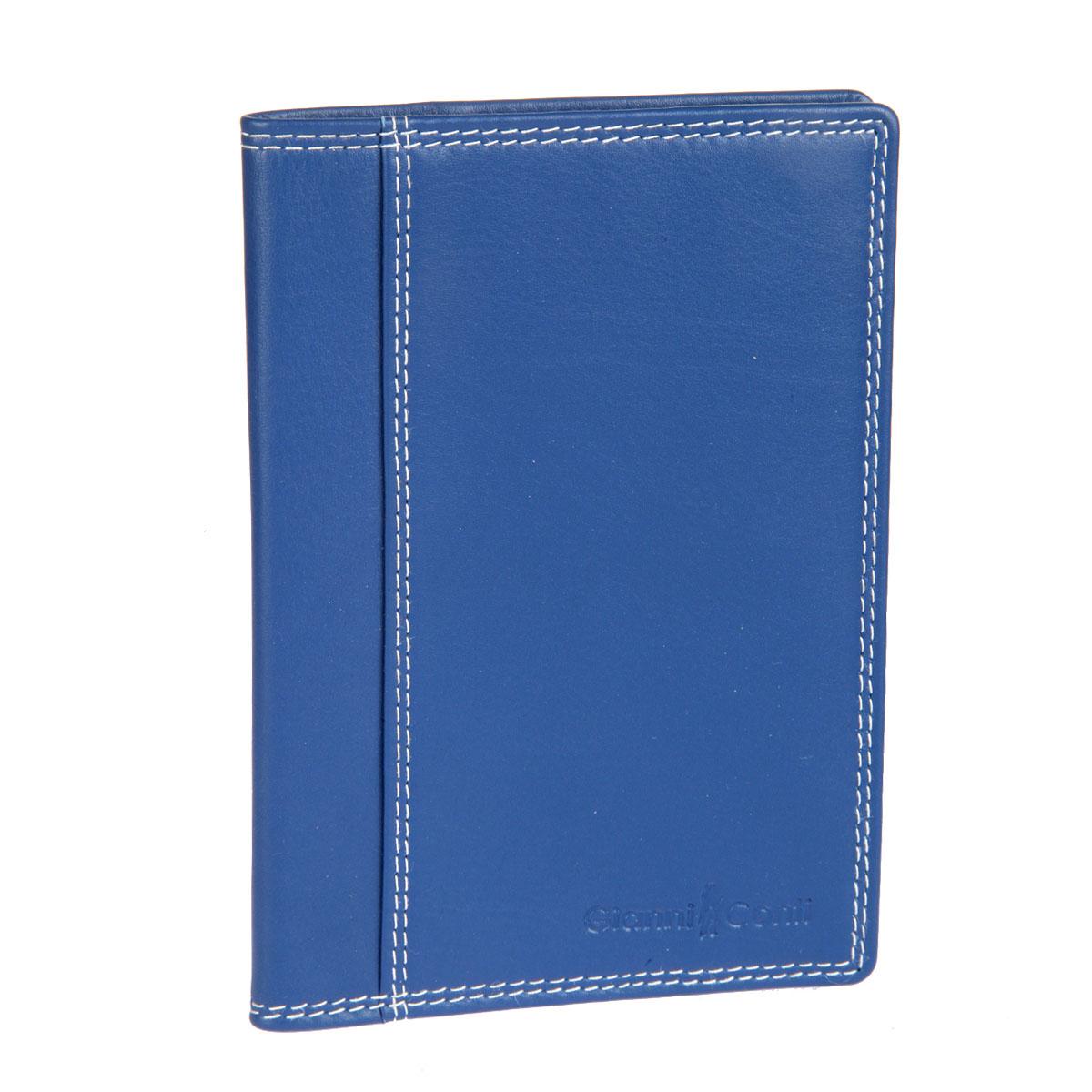 Обложка для паспорта Gianni Conti, цвет: синий. 18074551807455 el.blue multiСтильная обложка для паспорта Gianni Conti выполнена из натуральной кожи с зернистой фактурой. Обложка оформлена декоративной строчкой и выдавленным клеймом с названием и логотипом бренда. Изделие раскладывается пополам, внутри размещены шесть карманов для кредитных карт. Элегантная обложка Gianni Conti не только поможет сохранить внешний вид ваших документов и защитить их от повреждений, но и станет стильным аксессуаром, идеально подходящим к вашему образу.