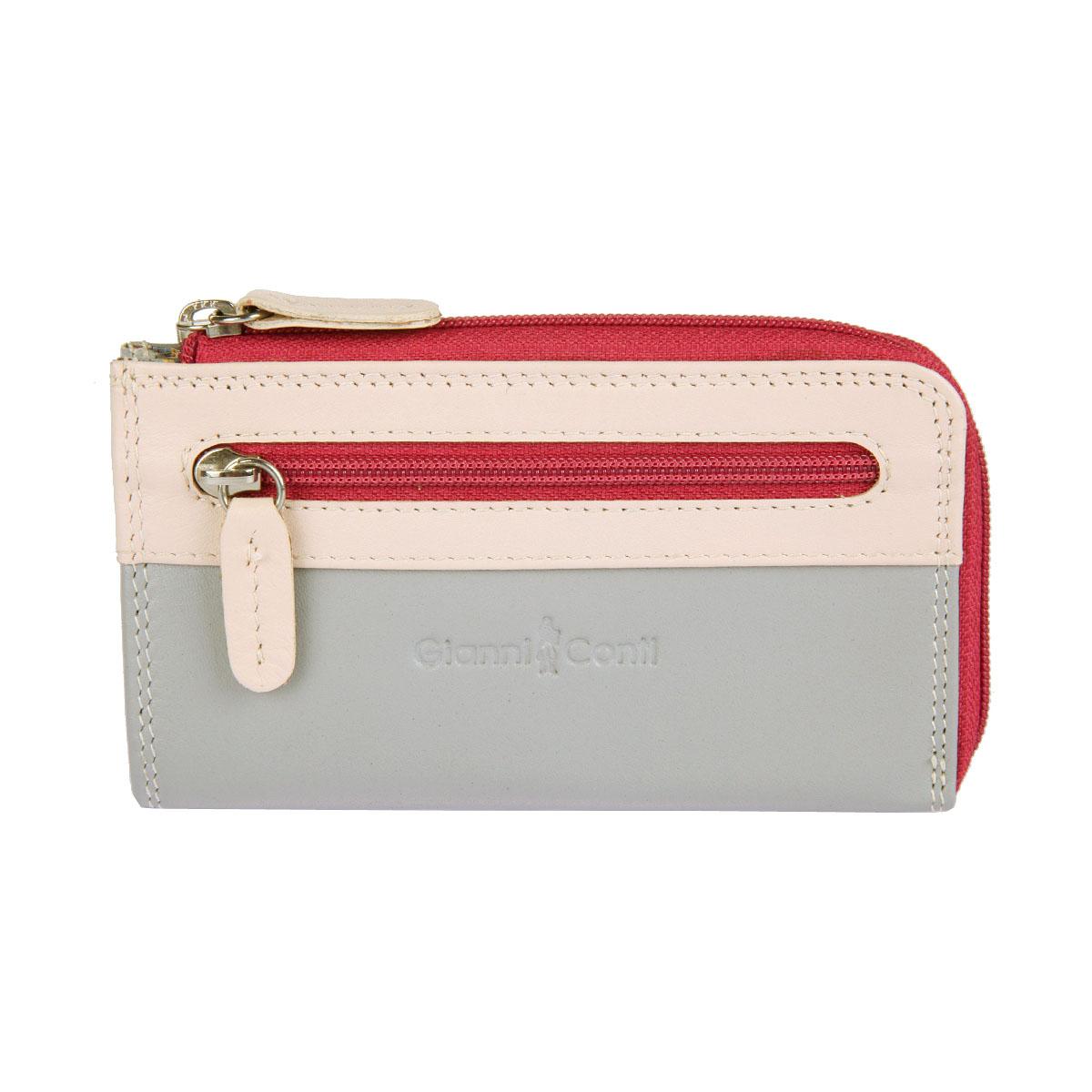 Ключница Gianni Conti, цвет: серый, розовый, фуксия. 1809184