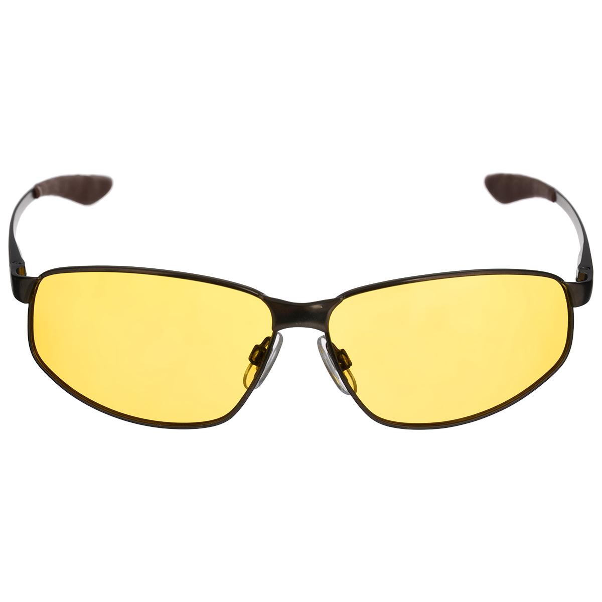 Очки мужские, поляризационные Cafa France, цвет: желтый. CF3108YCF3108YОчки поляризационные Cafa France предназначены для защиты органов зрения от ультрафиолета, а также блокировки бликов. Оправа изготовлена из гибкого пластика, который не бьется и не подвергается остаточным деформациям. Оправа разработана для комфортного и безопасного вождения - легкая, надежная, не закрывающая обзор в зоне периферийного зрения. Прорезиненные элементы на дужках и надежные узлы крепления предотвращают соскальзывание. Категория затемнения линз - Cat.1. Практичный аксессуар не только защитит ваши глаза, но и ярко подчеркнет ваш стиль.