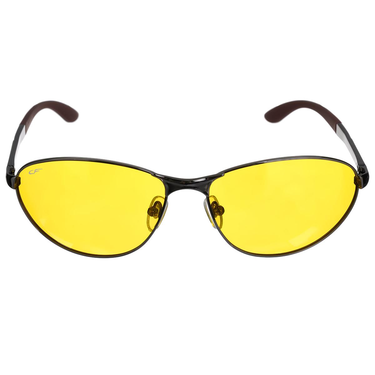 Очки поляризационные Cafa France, цвет: желтый. CF8199YCF8199YОчки поляризационные Cafa France предназначены для защиты органов зрения от ультрафиолета, а также блокировки бликов. Оправа изготовлена из гибкого пластика, который не бьется и не подвергается остаточным деформациям. Оправа разработана для комфортного и безопасного вождения - легкая, надежная, не закрывающая обзор в зоне периферийного зрения. Прорезиненные элементы на дужках и надежные узлы крепления предотвращают соскальзывание. Категория затемнения линз - Cat.1. Практичный аксессуар не только защитит ваши глаза, но и ярко подчеркнет ваш стиль.