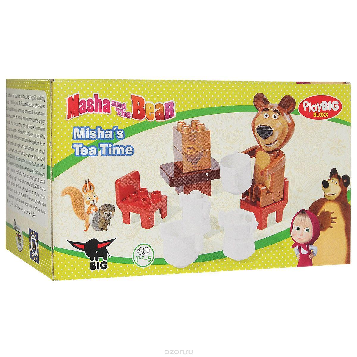 Конструктор Play Big Маша и Медведь. Мишка на кухне, 11 элементов800057090Современный конструктор Play Big Маша и Медведь. Мишка на кухне станет настоящим развлечением для ребенка, ведь он полностью выполнен по сюжету любимого детьми мультфильма. Все элементы изготовлены из безопасного материала. С помощью 11 элементов конструктора ребенок сможет собрать кухню со столовыми приборами и мебелью. В комплекте уже есть фигурка Мишки, так что у малыша появится больше возможностей для того, чтобы придумывать увлекательные сюжетно-ролевые игры. Во время сборки деталей ребенок развивает моторику рук, тактильное восприятие, терпеливость и усидчивость. Порадуйте своего непоседу таким великолепным подарком.