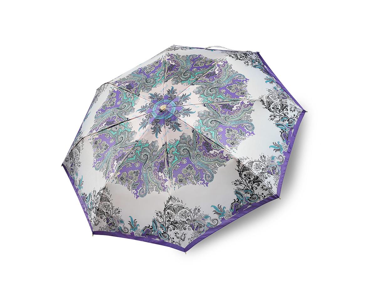 Зонт женский Fabretti, автомат, 3 сложения, цвет: сиреневый. Fabretti S-15101-6Fabretti S-15101-6Стильный женский зонт Fabretti, выполнен из стали и сатина, обработанного водоотталкивающей пропиткой. Зонт оформлен оригинальным цветочным принтом, который сочетает несколько сочных оттенков. Зонт оснащен полностью автоматическим механизмом, каркас раскладывается в три сложения. Ручка разработана с учетом требований эргономики, имеет полиуретановое покрытие. К зонту прилагается чехол на молнии. Компактные размеры зонта в сложенном виде позволят ему без труда поместиться в сумочке и оказаться под рукой в нужный момент.
