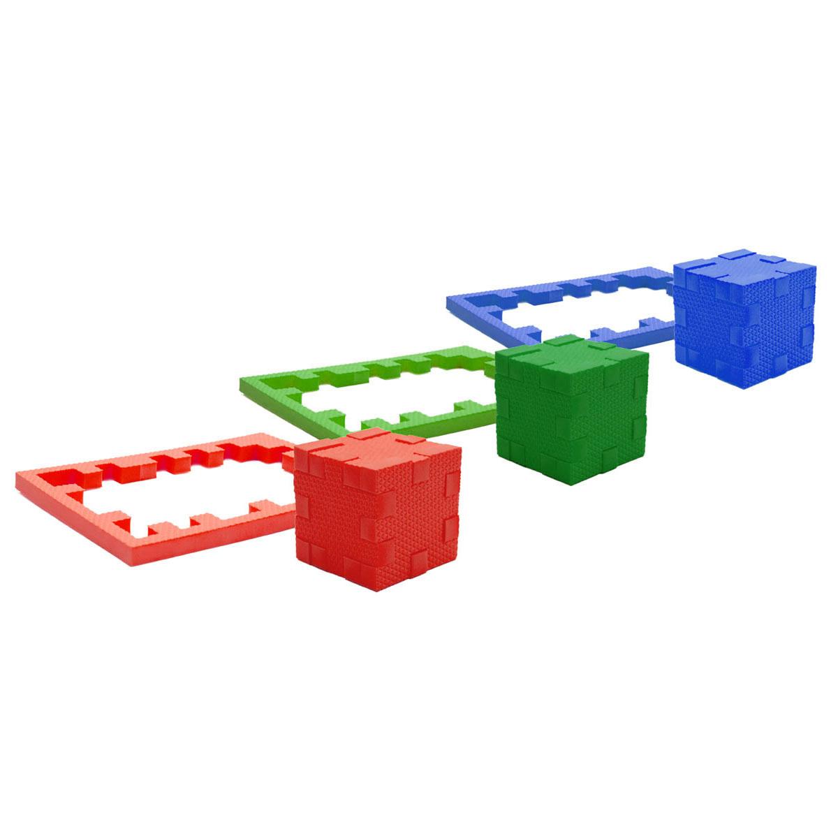 Picnmix Пазл-конструктор Кубикформ Три стихии111004Пазл-конструктор Pic&Mix Кубикформ Три стихии имеет уровень сложности Умник. Игра может проводиться в 2 этапа: Первый предполагает изучение 3-х цветов, усвоение ребёнком такого понятия как стихия и соответствующего ей цвета, на данном этапе ребенок осваивает навыки сборки простых элементов головоломки. На втором этапе ребенок учится собирать сложные геометрические фигуры. Серия обучающих пазл-конструкторов стимулирует развитие мышления, логики, пространственного воображения, памяти, координации, мелкой моторики, а также помогает усвоить навыки тактильного восприятия. В комплект входят 21 элемент конструктора, инструкция.
