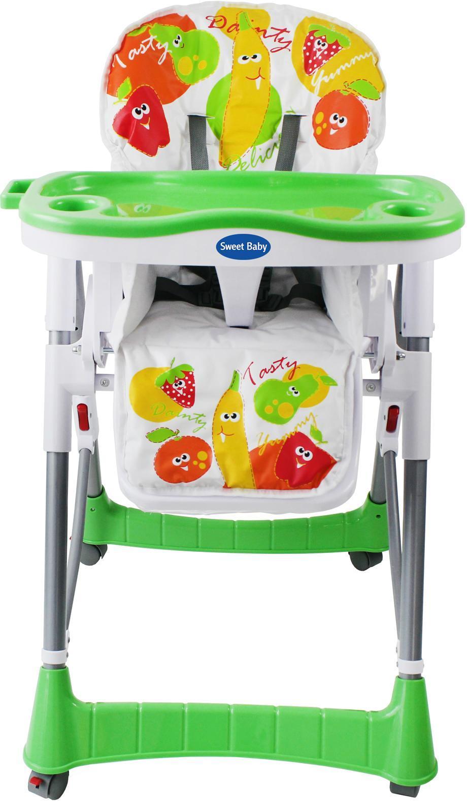 Стульчик для кормления Sweet Baby Frutto Emerald, цвет: зеленый286692Sweet Baby Frutto - яркий, стильный, качественный и вместе с тем не дорогой стульчик для кормления Вашего крохи, который прекрасно впишется в любой интерьер. Стульчик для кормления Sweet Baby Frutto - это идеальное сочетание функциональности и удобства. Возраст от 6 месяцев до 3 лет очень важен для формирования детского организма, особенно позвоночника. Поэтому крайне важно выбрать стульчик для кормления максимально безопасный и удобный для малыша. Sweet Baby Frutto соответствует важнейшим критериям: Удобный: Все элементы конструкции были продуманы с особой тщательностью, чтобы малыш чувствовал себя комфортно и свободно. Стульчик оснащен регуляторами для настройки положения спинки, высоты стульчика, уровня подножки. Дизайн: 5-точечный ремень с регуляцией по длине отлично фиксирует положение ребенка, не сдавливая его грудную клетку и животик. Между столиком и малышом предусмотрен специальный зазор с регулировкой, а закрытые боковые...