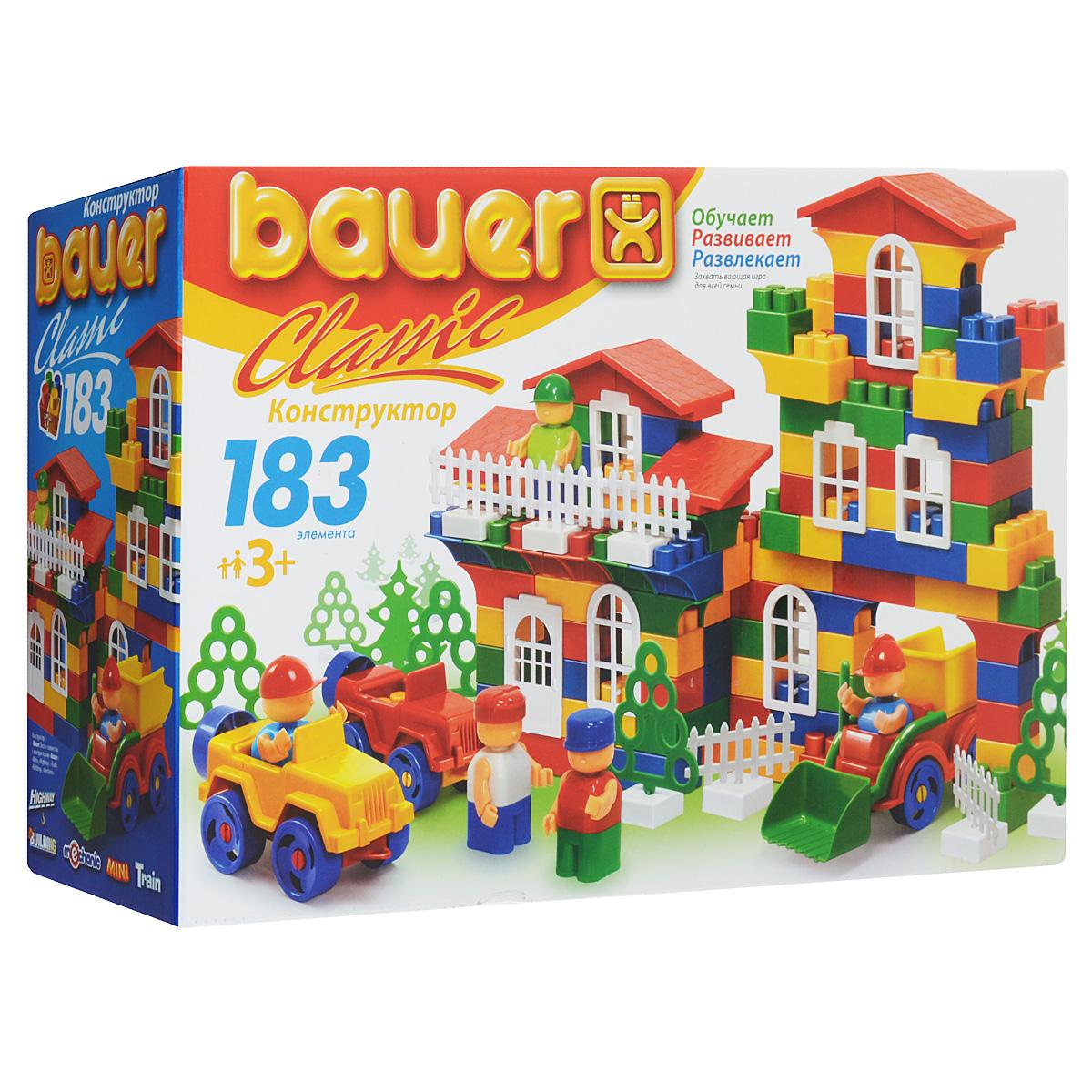 Bauer Конструктор Classic 198198Конструктор Bauer Classic содержит 183 ярких деталей разных форм, цветов и размеров для сборки различных по сложности 2-х и 3-х мерных объектов. Конструктор прекрасно подходит для детского творчества и семейного отдыха, способствуют развитию объёмного мышления ребенка, фантазии, координации движения глаз, мелкой моторики и памяти. Все детали сделаны из высококачественного пластика с использованием пищевых красителей. Ребенок сможет часами играть с этим конструктором, придумывая разные истории и комбинируя детали. Конструктор Bauer Classic адаптирован к программам дошкольного образования, и может быть использован как индивидуально, так и в коллективе.