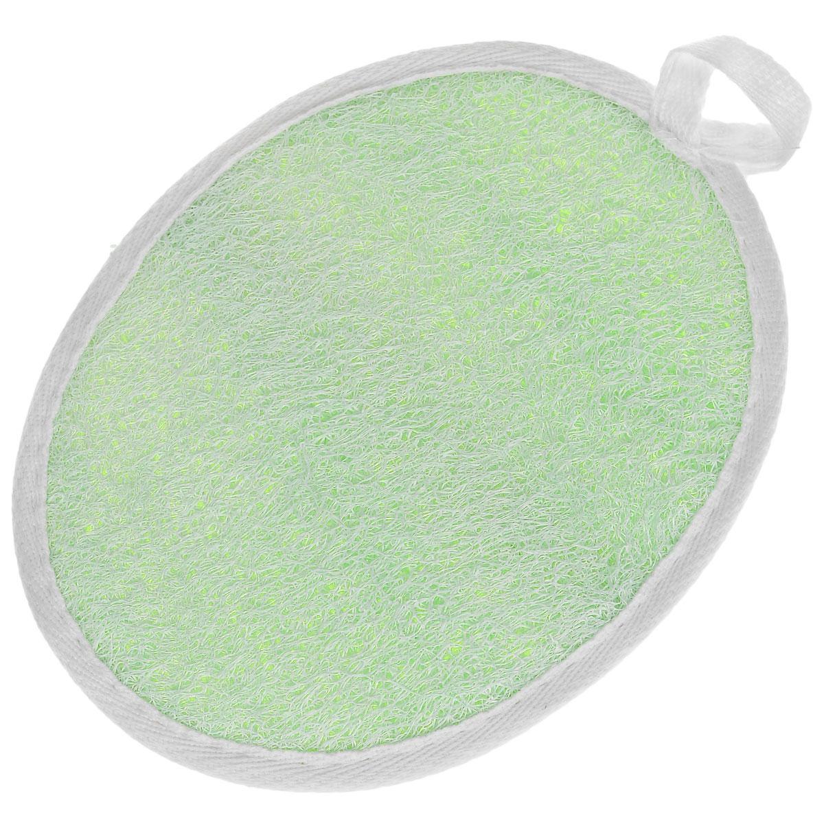 """Мочалка Eva """"Овал"""", цвет: салатовый, 14 см х 18 см"""