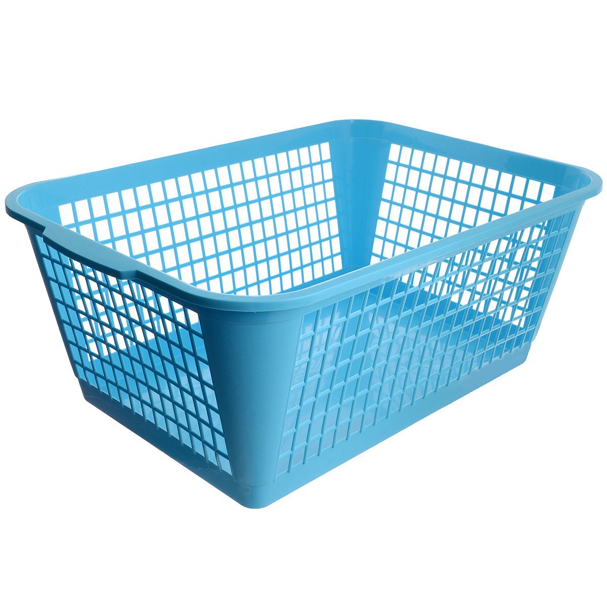 Корзина Gensini, цвет: голубой, 50 л3309_голубойУниверсальная корзина Gensini, выполненная из полипропилена, предназначена для хранения мелочей в ванной, на кухне, даче или гараже. Позволяет хранить мелкие вещи, исключая возможность их потери. Легкая воздушная корзина с жесткой кромкой, с узором из отверстий в форме прямоугольников.