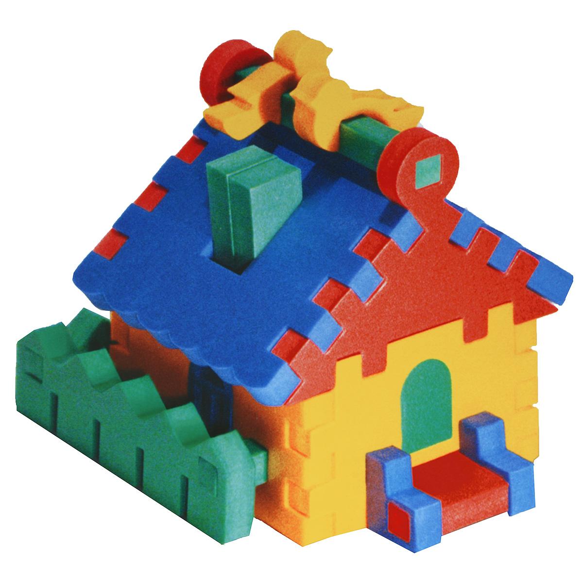 Флексика Мягкий конструктор Домик45360Мягкий конструктор-пирамидка Домик привлечет внимание малыша и не позволит ему скучать. Элементы конструктора выполнены из мягкого, эластичного, прочного материала, который обеспечивает большую долговечность и является абсолютно безопасным для детей. Благодаря особой структуре и свойству материала прилипать к мокрой поверхности, конструктор является идеальной игрушкой для ванны и сделает процесс купания приятной забавой для ребенка. Мягкий конструктор разовьет у ребенка память, воображение, моторику, пространственное и логическое мышление. Порадуйте его таким замечательным подарком! Характеристики: Размер домика: 10,5 см x 13,5 см x 10,5 см. УВАЖАЕМЫЕ КЛИЕНТЫ! Обращаем ваше внимание на возможные изменения в дизайне, связанные с ассортиментом продукции: цвет изделия или отдельных деталей может отличаться от представленного на изображении. Поставка осуществляется в зависимости от наличия на складе.
