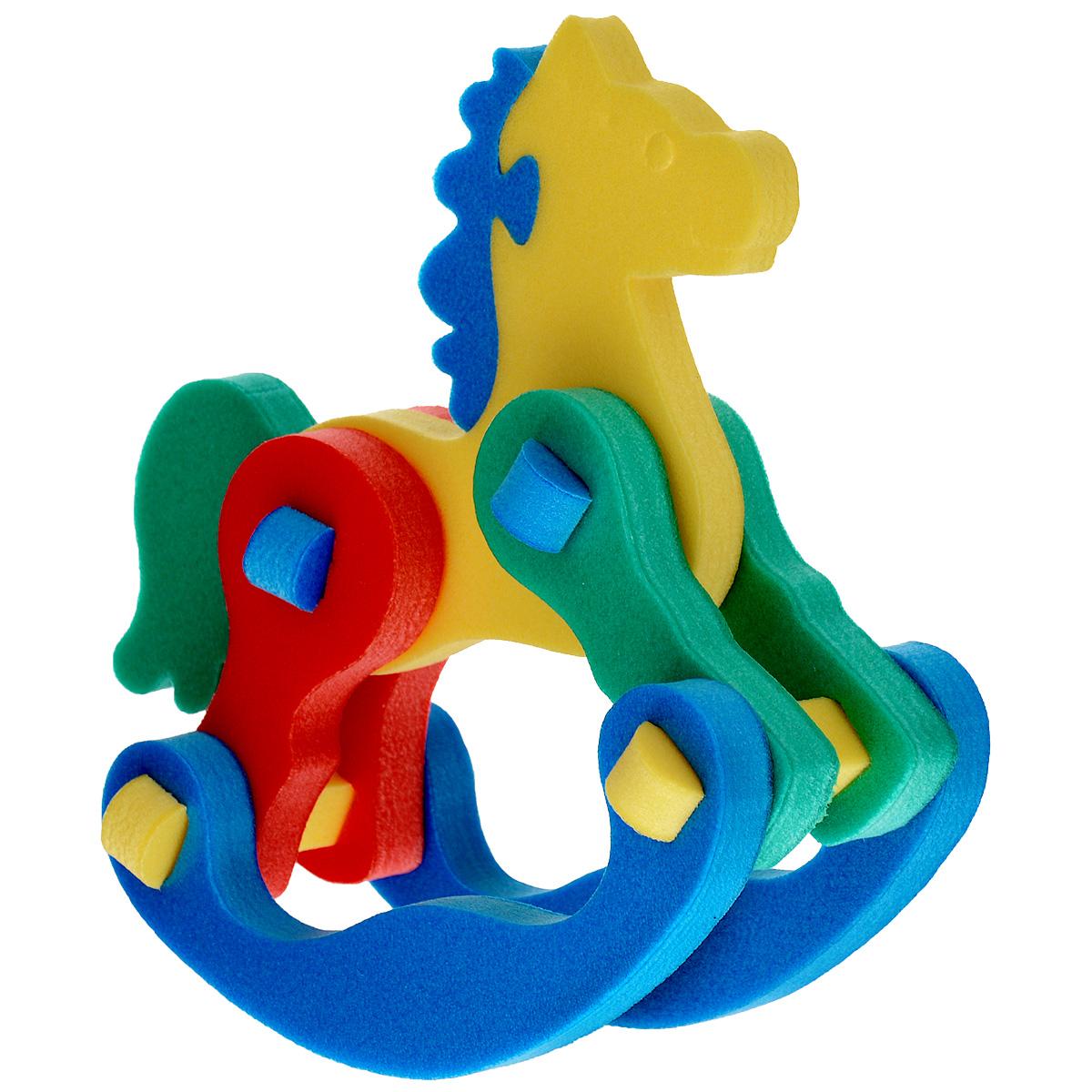Флексика Мягкий конструктор Лошадка-качалка45381Мозаики и конструкторы настолько универсальны и практичны, что с ними можно играть практически везде. Для производства игрушек используется современный, легкий, эластичный, прочный материал, который обеспечивает большую долговечность игрушек, и главное –является абсолютно безопасным для детей. К тому же, благодаря особой структуре материала и свойству прилипать к мокрой поверхности, мягкие конструкторы и мозаики являются идеальной игрушкой для ванны. Способствует развитию у ребенка мелкой моторики, образного и логического мышления, наблюдательности. Характеристики: Размер: 12 см x 13,5 см x 6 см. Производственная фирма Тедико зарекомендовала себя на рынке отечественных товаров как производитель высококачественных конструкторов и мозаик серии Флексика. Богатый ассортимент включает в себя игрушки для малышей и детей старшего возраста.