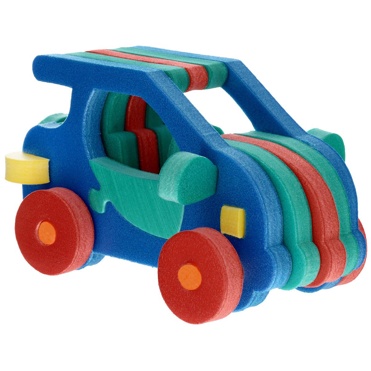 Флексика Мягкий конструктор Автомобильчик45388Мозаики и конструкторы настолько универсальны и практичны, что с ними можно играть практически везде. Для производства игрушек используется современный, легкий, эластичный, прочный материал, который обеспечивает большую долговечность игрушек, и главное является абсолютно безопасным для детей. К тому же, благодаря особой структуре материала и свойству прилипать к мокрой поверхности, мягкие конструкторы и мозаики являются идеальной игрушкой для ванны. Способствует развитию у ребенка мелкой моторики, образного и логического мышления, наблюдательности. УВАЖАЕМЫЕ КЛИЕНТЫ! Обращаем ваше внимание на возможные изменения в дизайне, связанные с ассортиментом продукции: цвет изделия или отдельных деталей может отличаться от представленного на изображении. Поставка осуществляется в зависимости от наличия на складе. Характеристики: Средний размер получаемого автомобиля: 13,5 см x 8 см x 4 см. Мозаики и конструкторы серии Флексика...