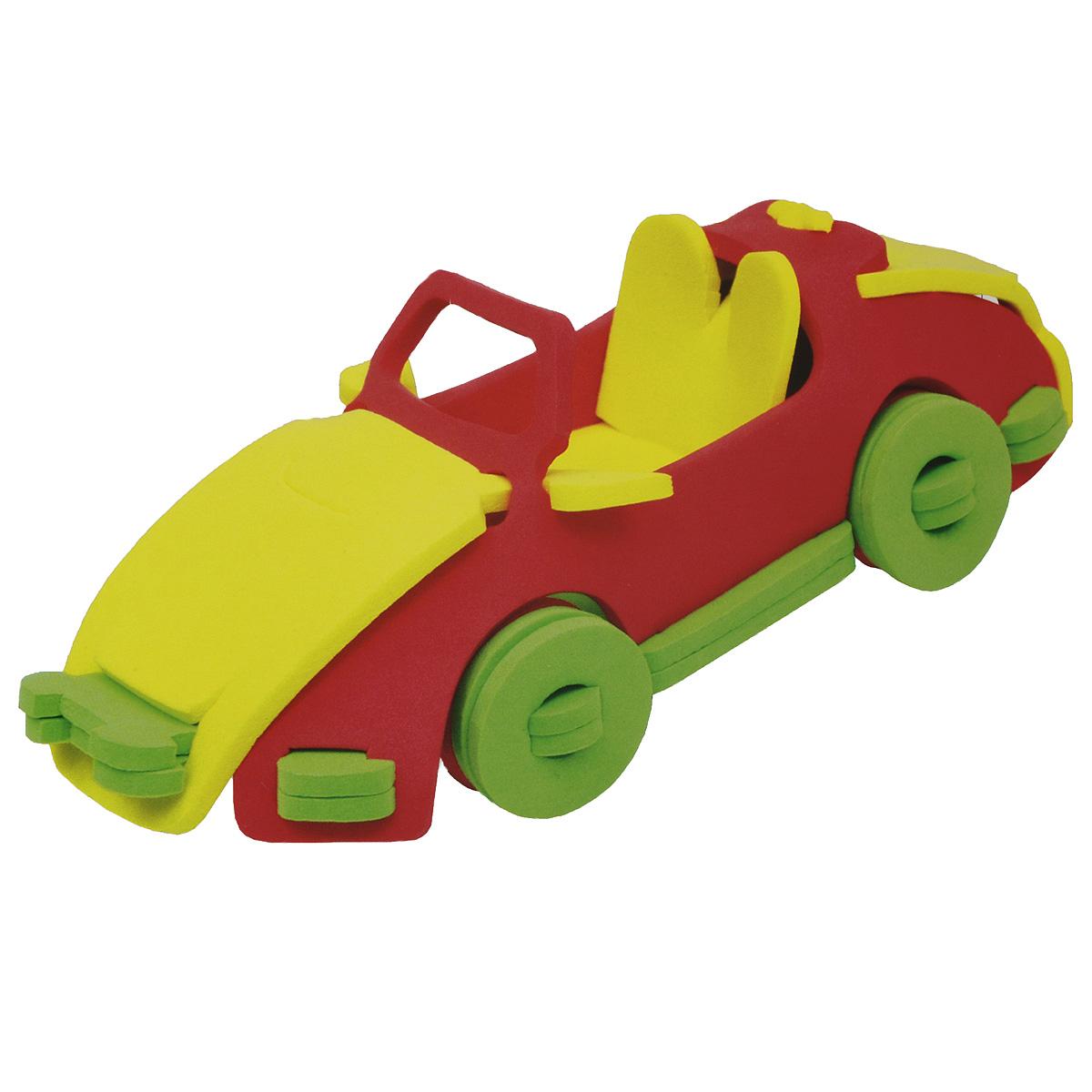 Фантазер Мягкий конструктор 3D Автомобиль147023Яркий 3D конструктор Автомобиль привлечет внимание вашего ребенка и не позволит ему скучать. В набор входит 19 деталей конструктора. Размер составных элементов конструктора очень удобен для того, чтобы ребенку было удобно и комфортно в него играть. Собирая конструктор, ребенок разовьет внимание, воображение, мелкую моторику рук, пространственное и логическое мышление, а собранная своими руками игрушка будет для него гораздо дороже, чем готовая - ведь он вложил в нее свой драгоценный труд.