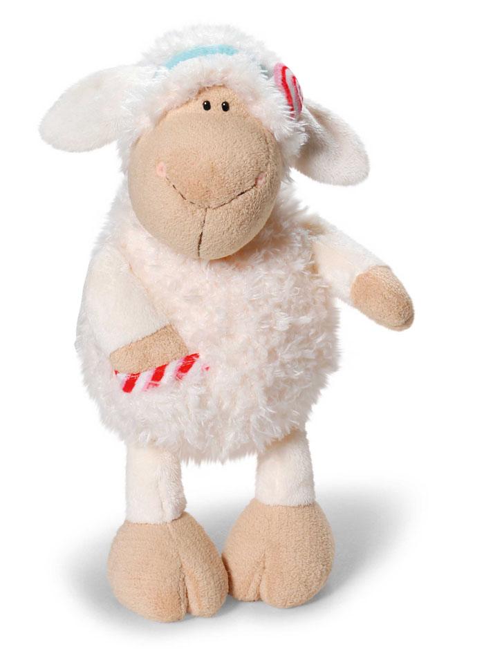 Nici Мягкая игрушка Овечка Кэнди 24 см37803Очаровательная мягкая игрушка Nici Овечка Кэнди выполнена в виде симпатичной плюшевой овечки. Игрушка изготовлена из высококачественного текстильного материала бежевого цвета. Игрушка невероятно мягкая и приятная на ощупь, вам не захочется выпускать ее из рук. Глазки у овечки пластиковые, а ротик и носик вышиты нитками. На голове у Кэнди текстильный пришитый ободок с ярким сердечком. На теле овечки имеется кармашек с вставкой из материала с шуршащим элементом. Удивительно мягкая игрушка принесет радость и подарит своему обладателю мгновения нежных объятий и приятных воспоминаний. Великолепное качество исполнения делают эту игрушку чудесным подарком к любому празднику. Трогательная и симпатичная, она непременно вызовет улыбку у детей и взрослых.