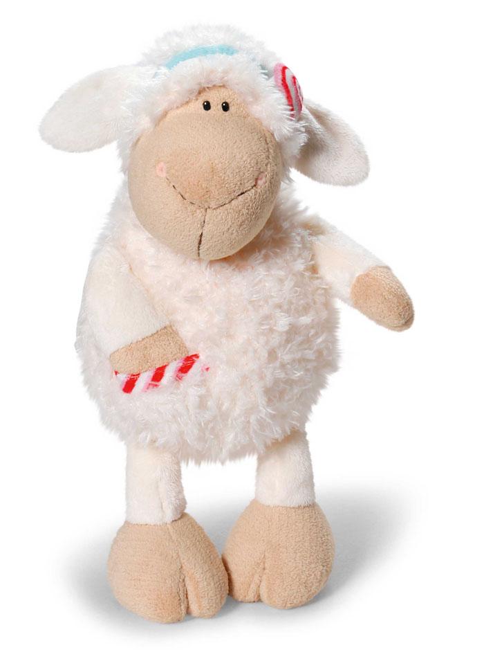 Nici Мягкая игрушка Овечка Кэнди 80 см37806Очаровательная мягкая игрушка Nici Овечка Кэнди выполнена в виде симпатичной плюшевой овечки. Игрушка изготовлена из высококачественного текстильного материала бежевого цвета. Игрушка невероятно мягкая и приятная на ощупь, вам не захочется выпускать ее из рук. Глазки у овечки пластиковые, а ротик и носик вышиты нитками. На голове у Кэнди текстильный пришитый ободок с ярким сердечком. На теле овечки имеется пришитый кармашек с вставкой из материала с шуршащим элементом. Удивительно мягкая игрушка принесет радость и подарит своему обладателю мгновения нежных объятий и приятных воспоминаний. Великолепное качество исполнения делают эту игрушку чудесным подарком к любому празднику. Трогательная и симпатичная, она непременно вызовет улыбку у детей и взрослых.